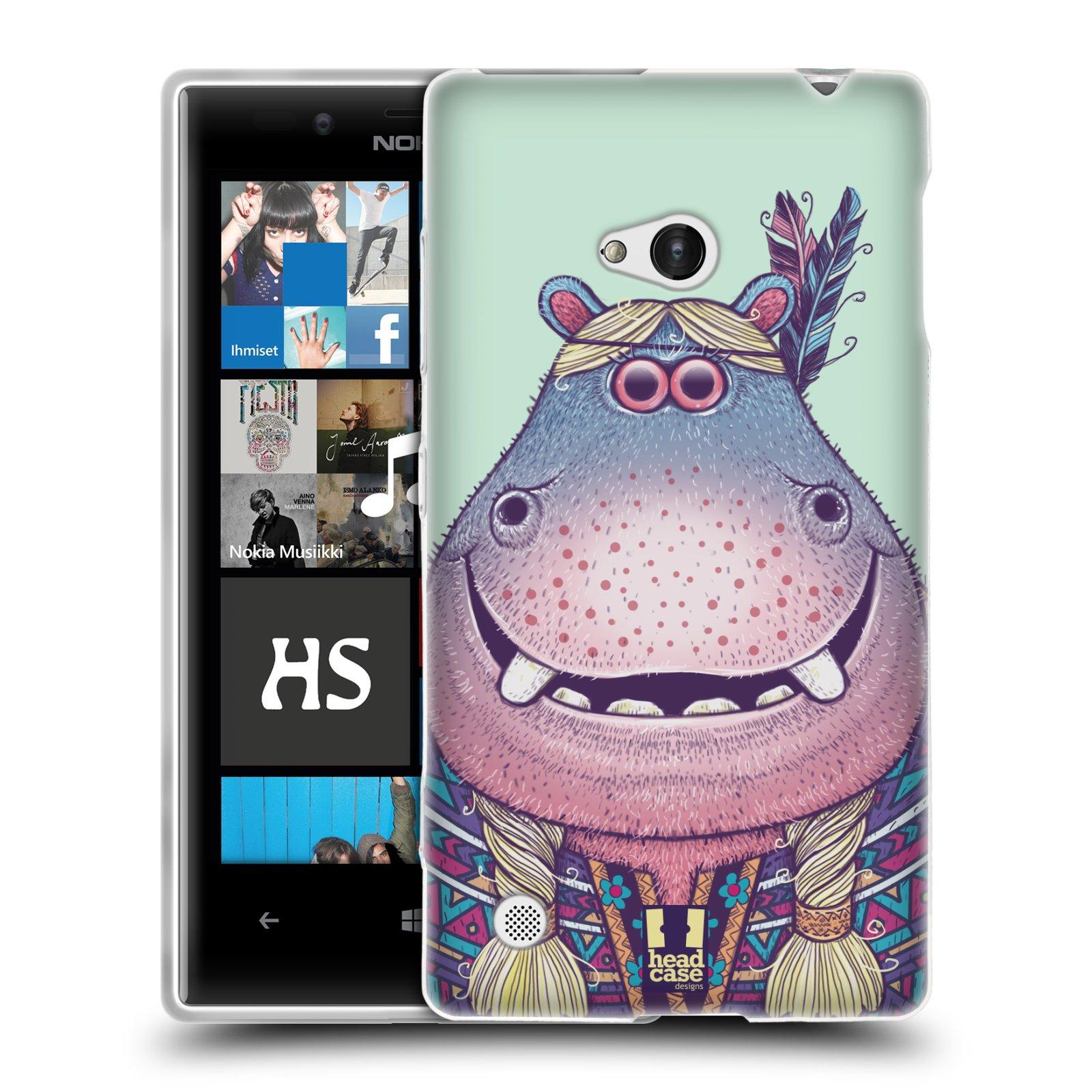 HEAD CASE silikonový obal na mobil NOKIA Lumia 720 vzor Kreslená zvířátka hroch
