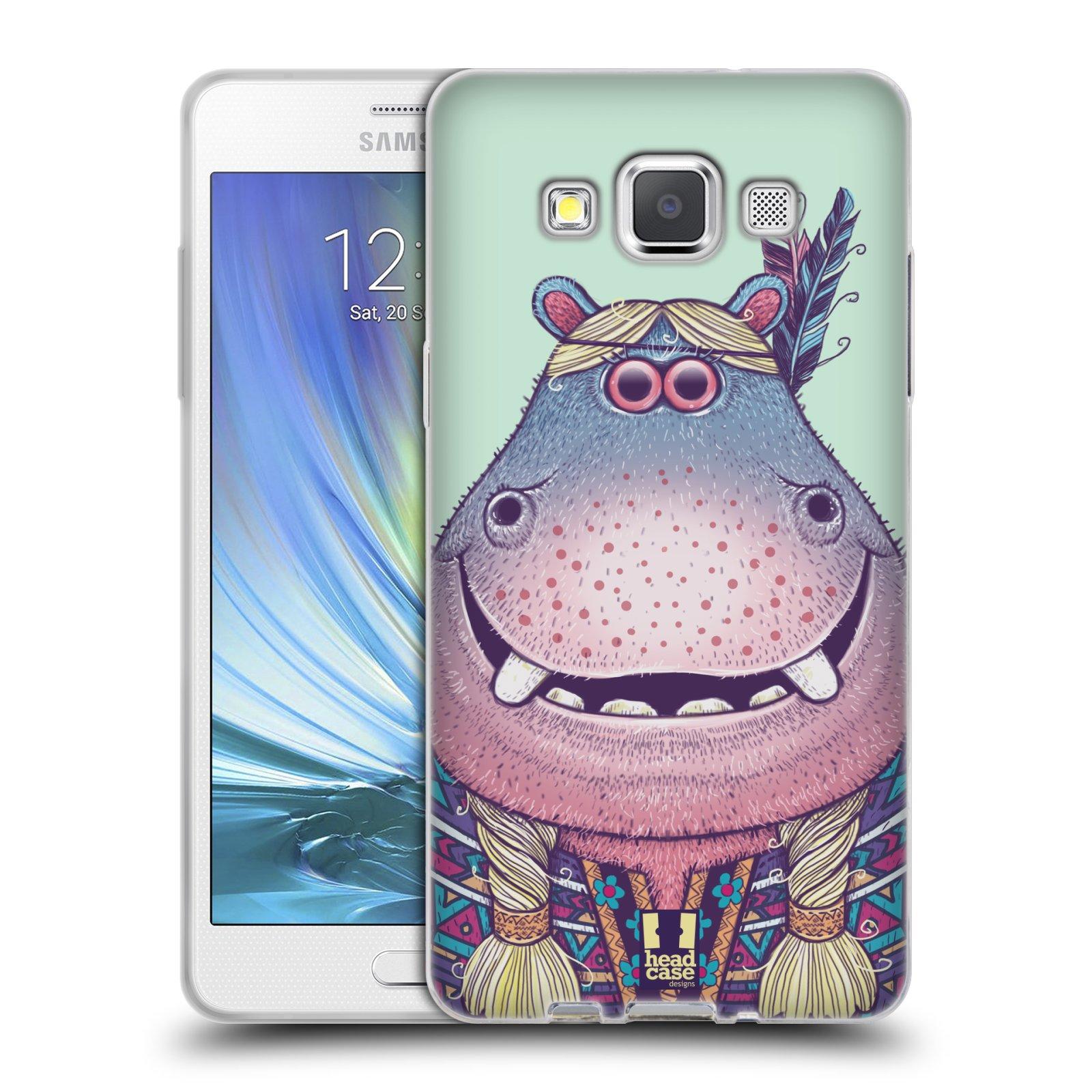 HEAD CASE silikonový obal na mobil Samsung Galaxy A5 vzor Kreslená zvířátka hroch