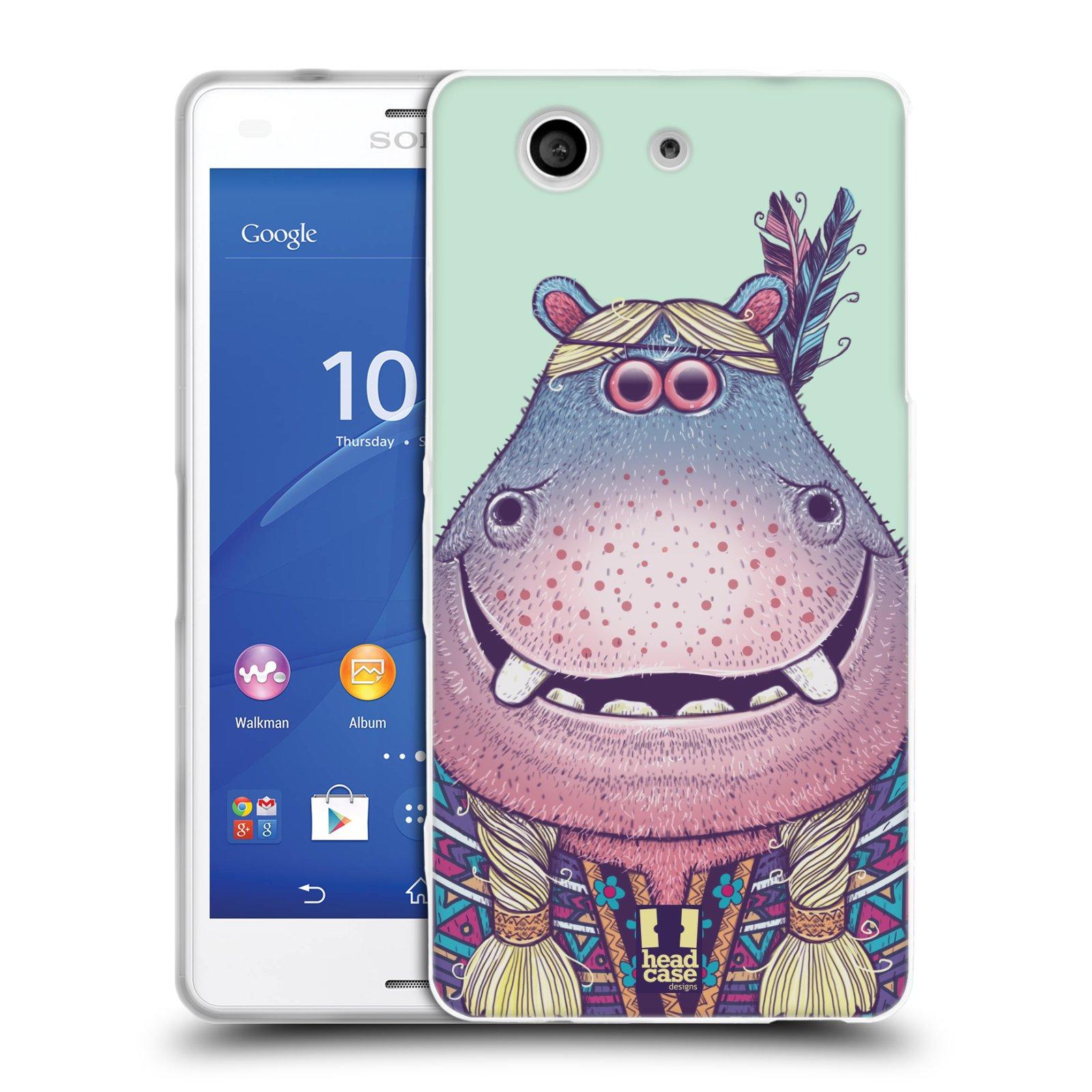 HEAD CASE silikonový obal na mobil Sony Xperia Z3 COMPACT (D5803) vzor Kreslená zvířátka hroch