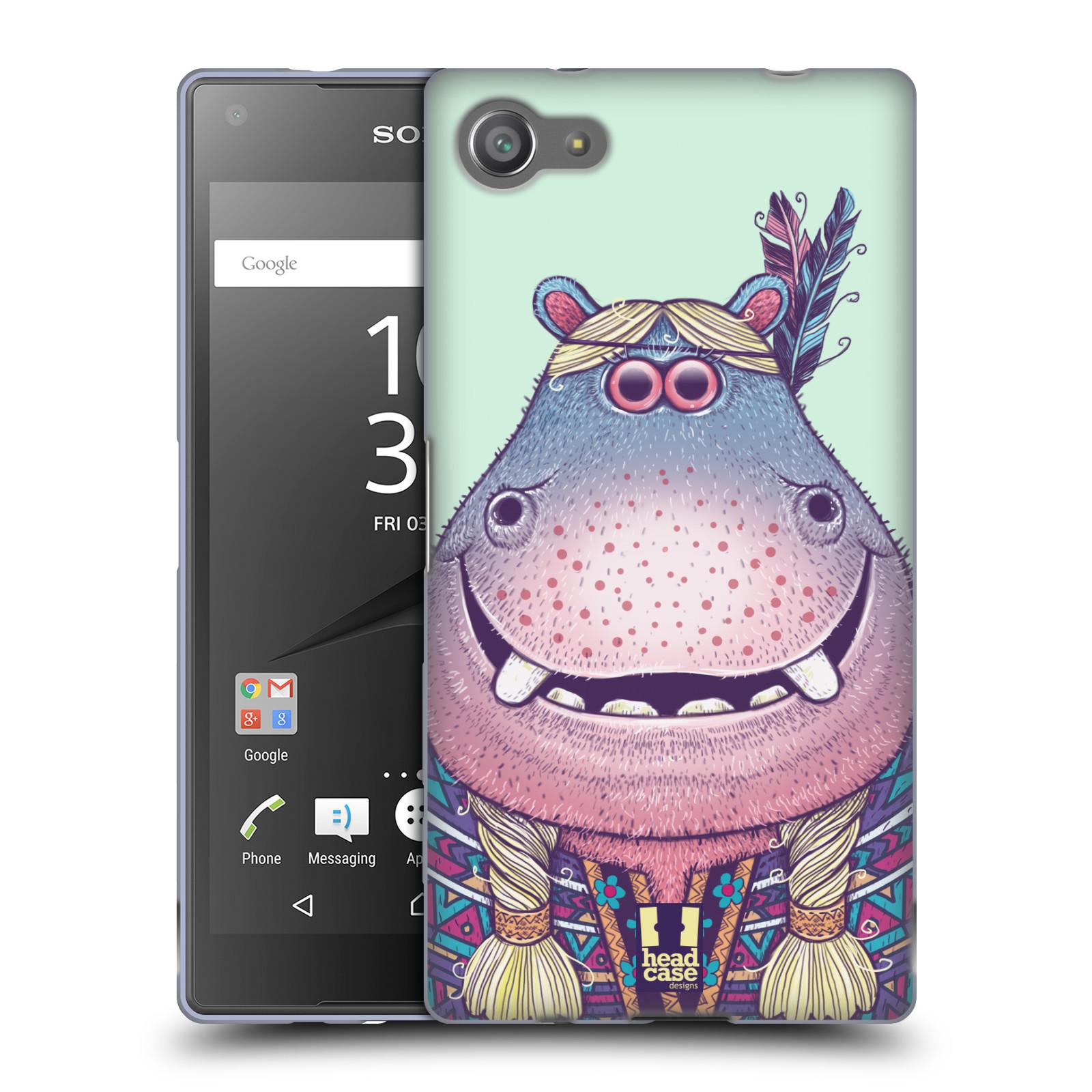 HEAD CASE silikonový obal na mobil Sony Xperia Z5 COMPACT vzor Kreslená zvířátka hroch