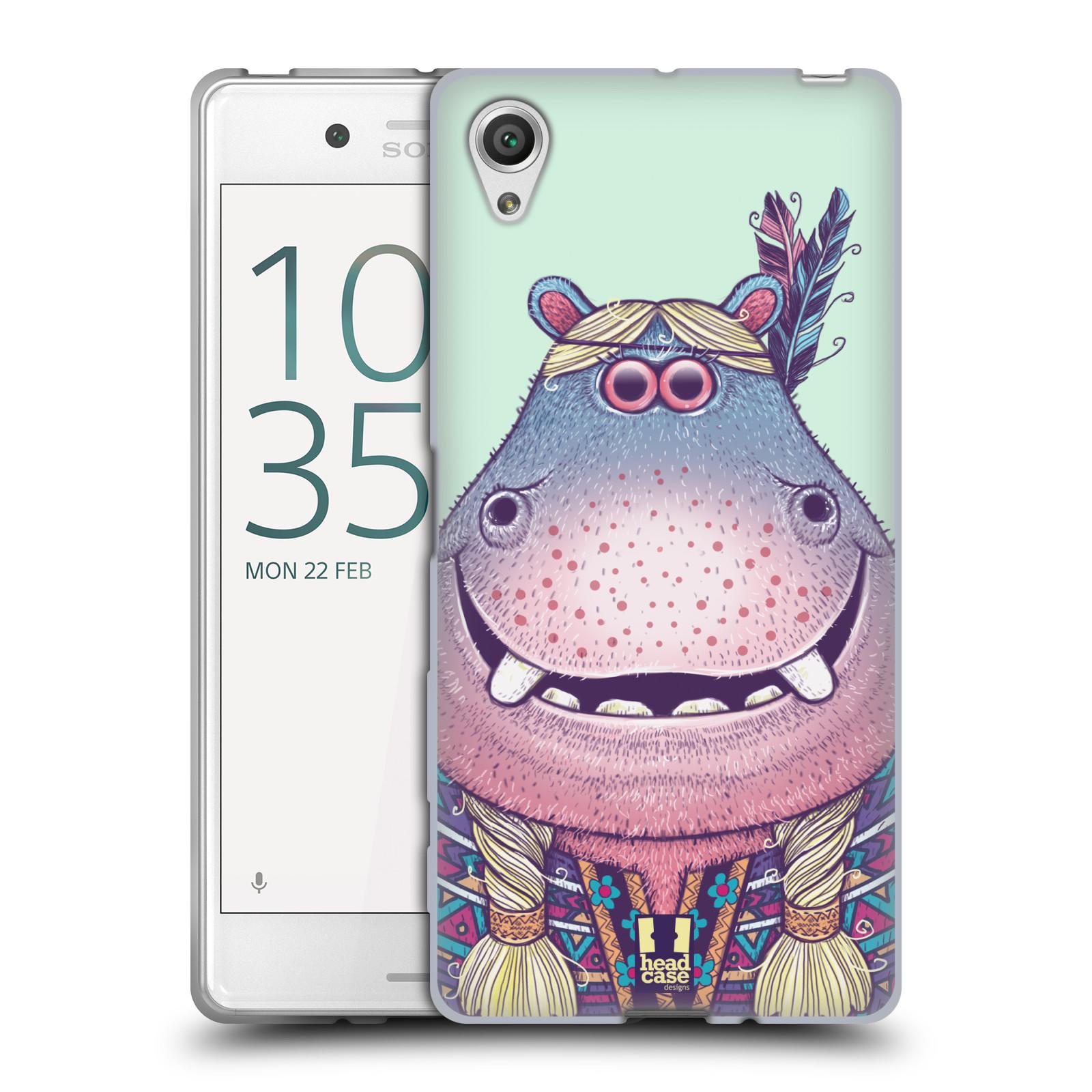 HEAD CASE silikonový obal na mobil Sony Xperia X / X DUAL vzor Kreslená zvířátka hroch