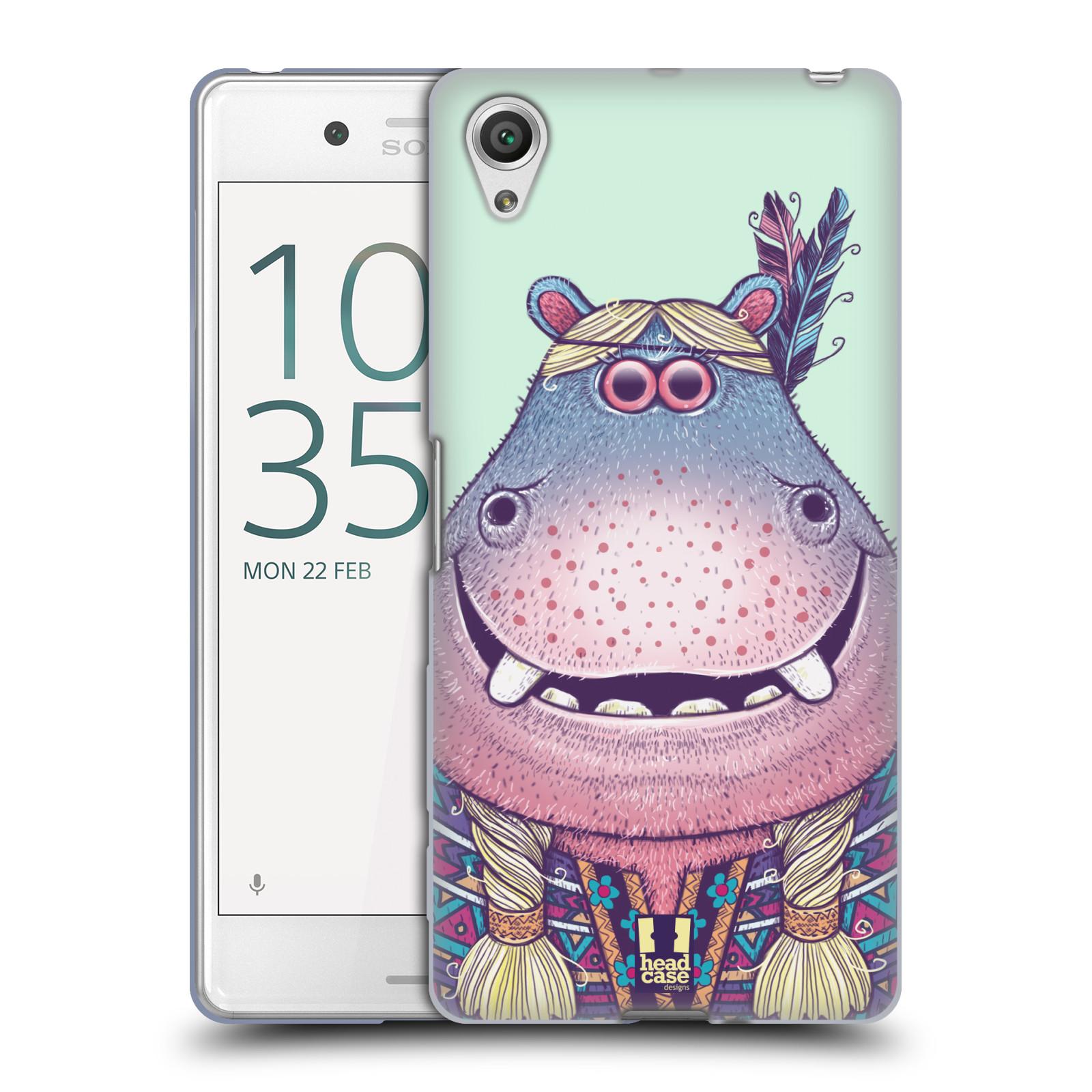 HEAD CASE silikonový obal na mobil Sony Xperia X PERFORMANCE (F8131, F8132) vzor Kreslená zvířátka hroch