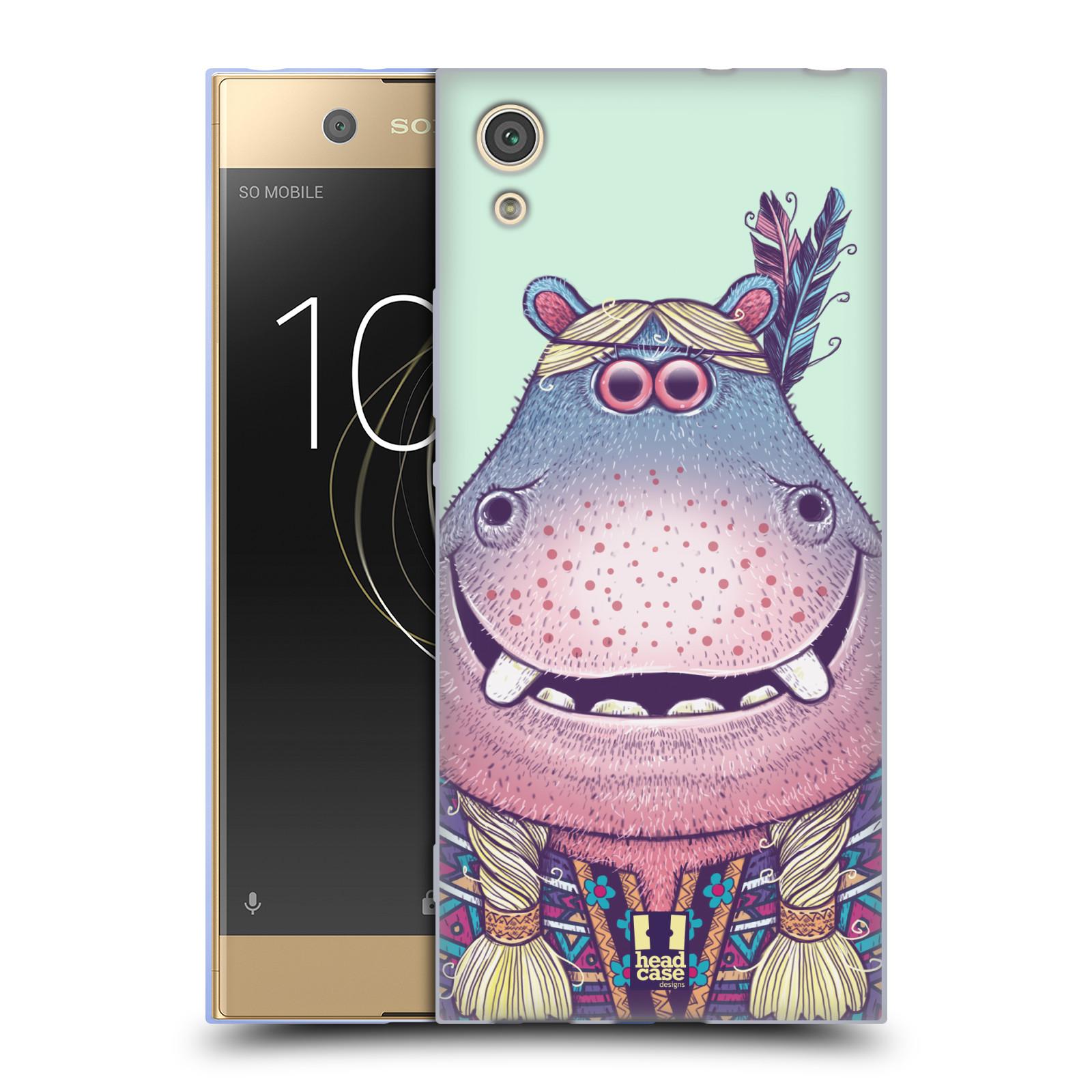 HEAD CASE silikonový obal na mobil Sony Xperia XA1 / XA1 DUAL SIM vzor Kreslená zvířátka hroch