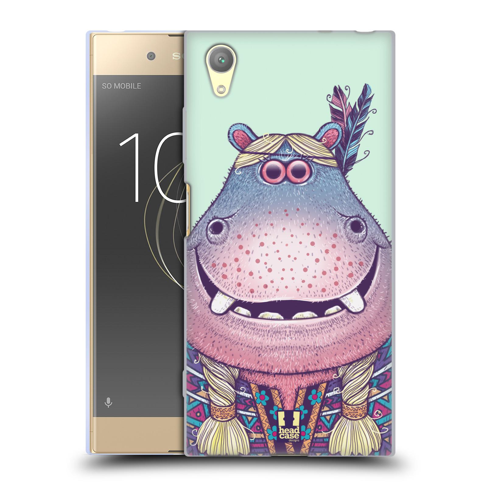 HEAD CASE silikonový obal na mobil Sony Xperia XA1 PLUS vzor Kreslená zvířátka hroch