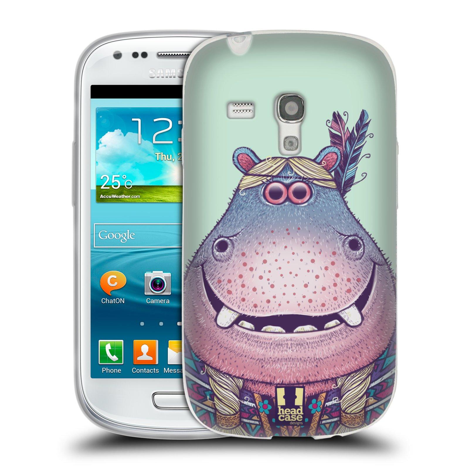 HEAD CASE silikonový obal na mobil Samsung Galaxy S3 MINI i8190 vzor Kreslená zvířátka hroch