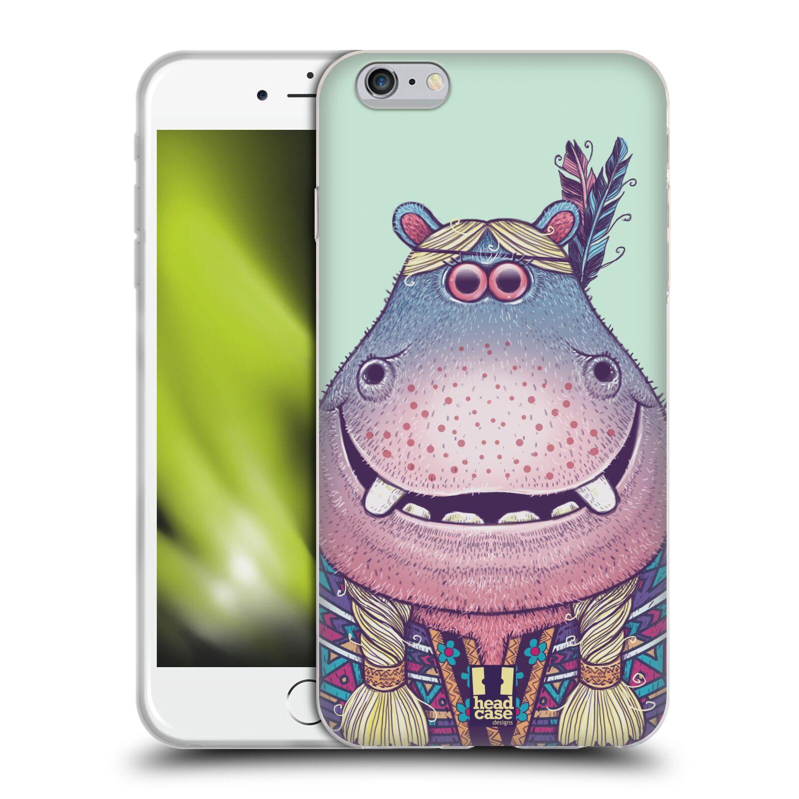 HEAD CASE silikonový obal na mobil Apple Iphone 6 PLUS/ 6S PLUS vzor Kreslená zvířátka hroch