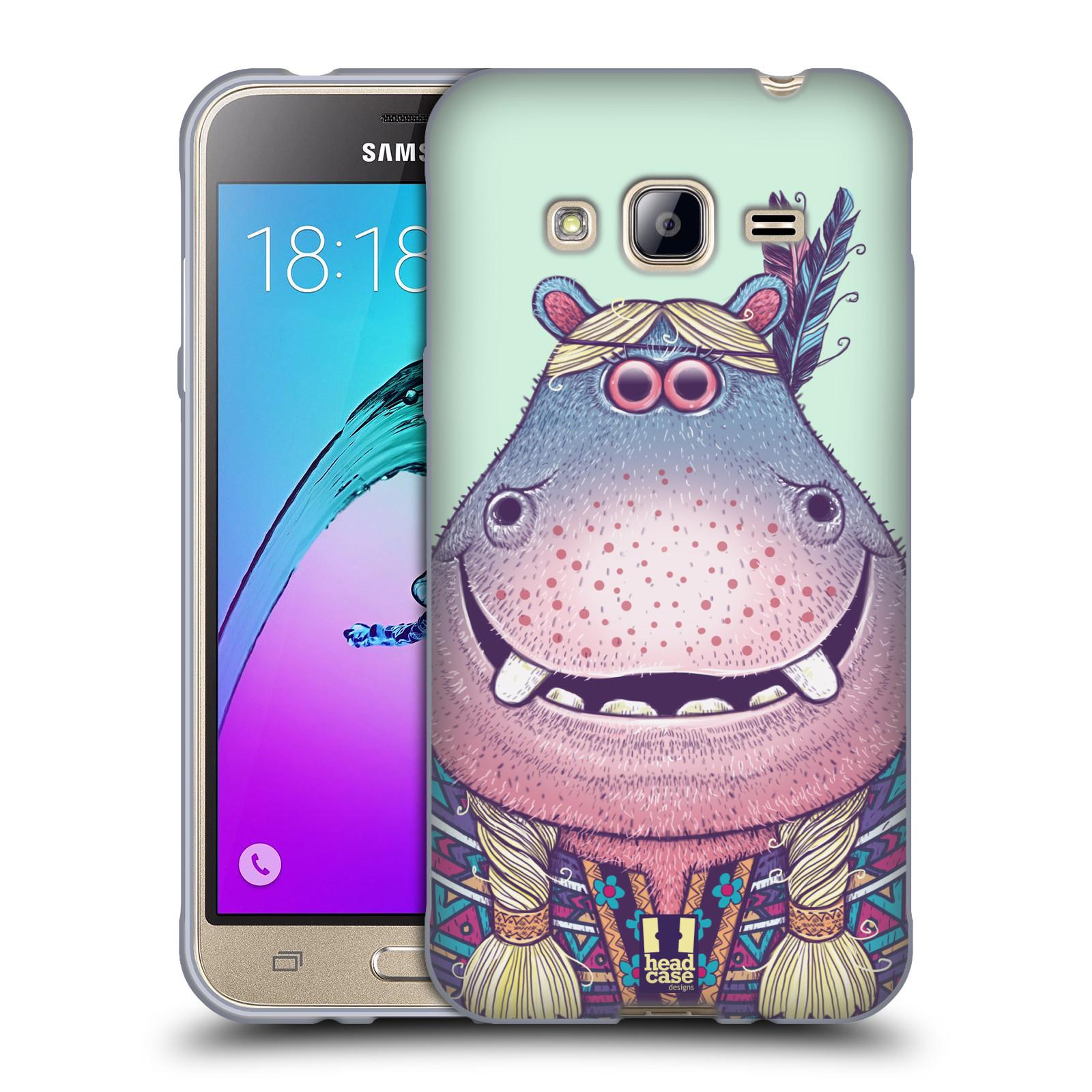 HEAD CASE silikonový obal na mobil Samsung Galaxy J3, J3 2016 vzor Kreslená zvířátka hroch