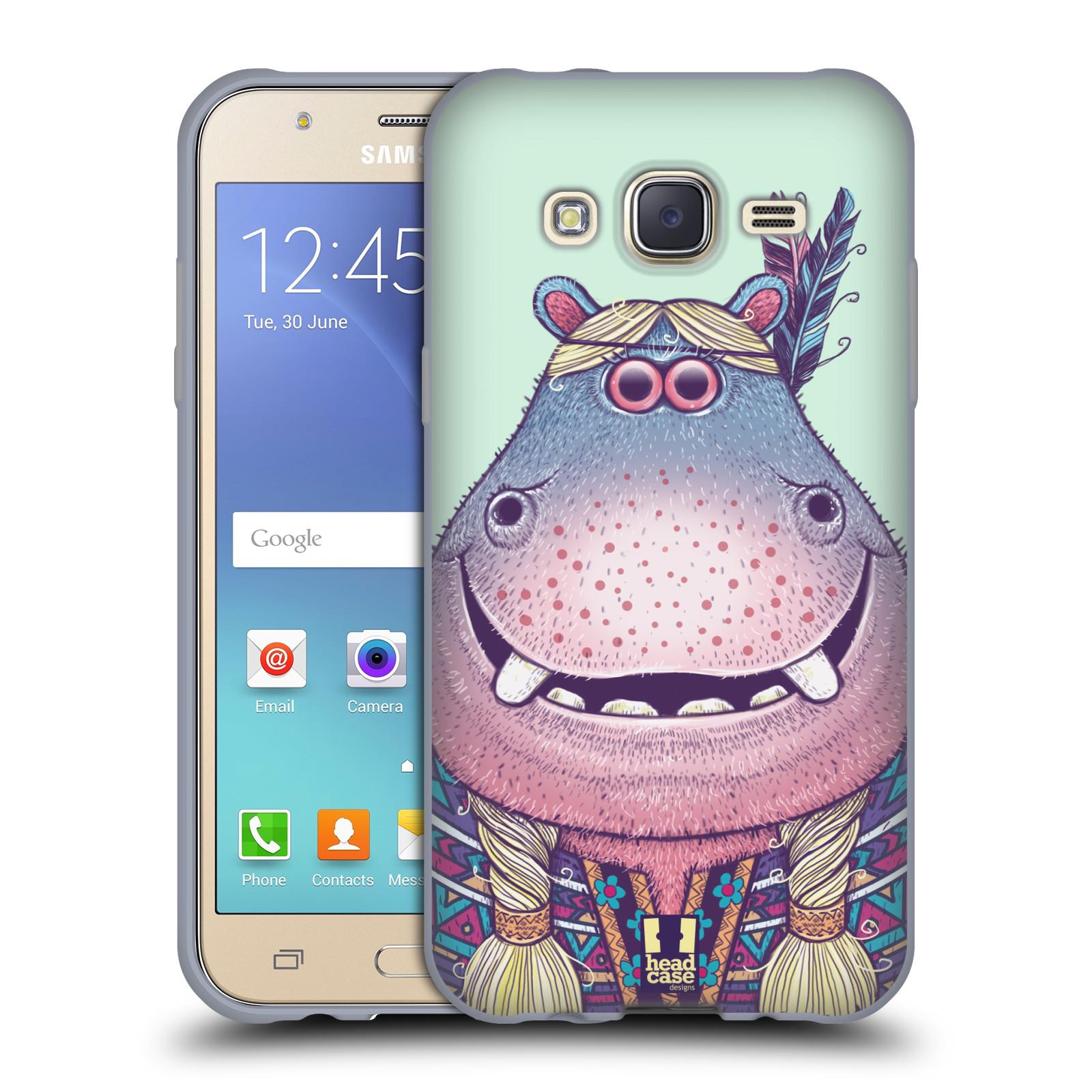 HEAD CASE silikonový obal na mobil Samsung Galaxy J5, J500, (J5 DUOS) vzor Kreslená zvířátka hroch