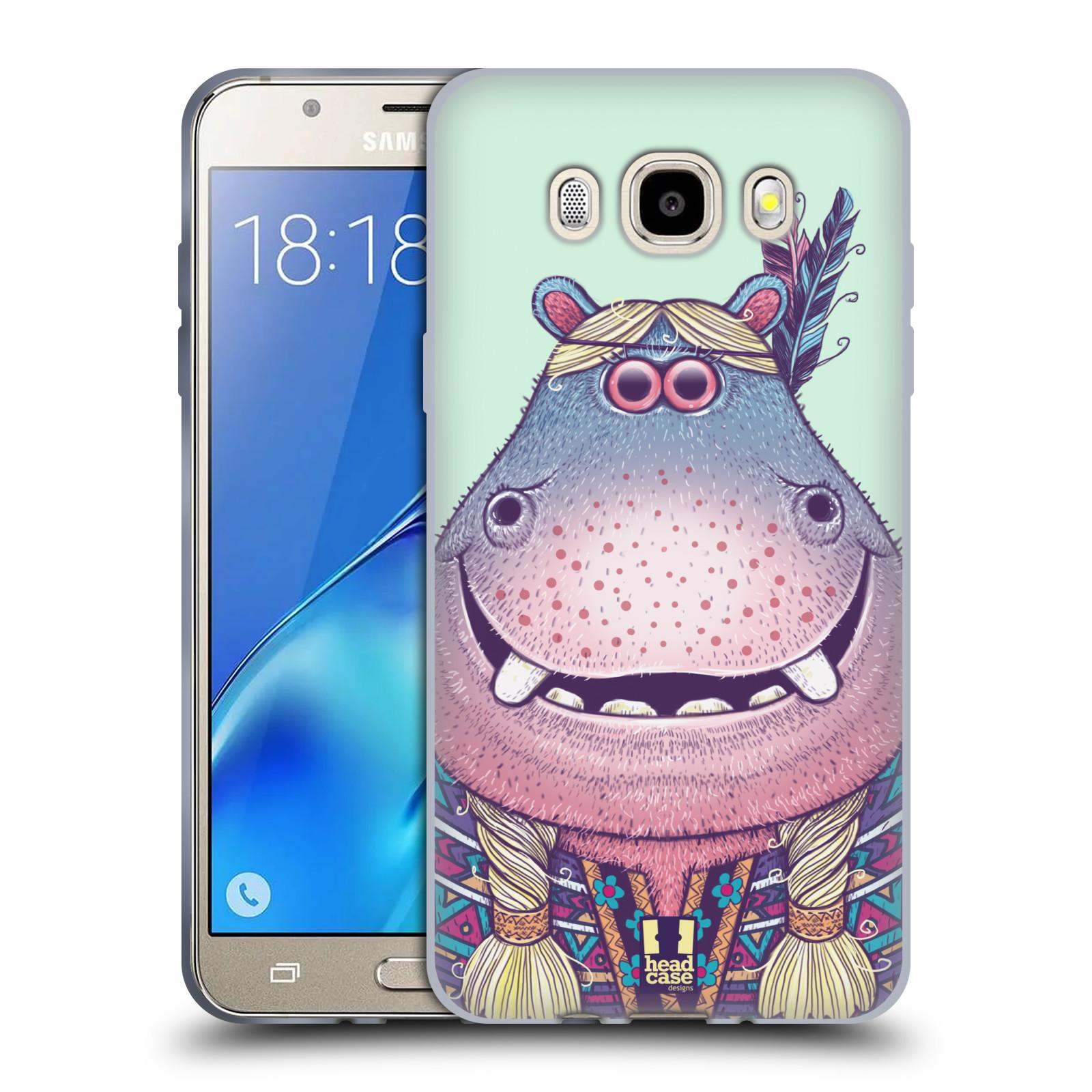 HEAD CASE silikonový obal, kryt na mobil Samsung Galaxy J5 2016, J510, J510F, (J510F DUAL SIM) vzor Kreslená zvířátka hroch