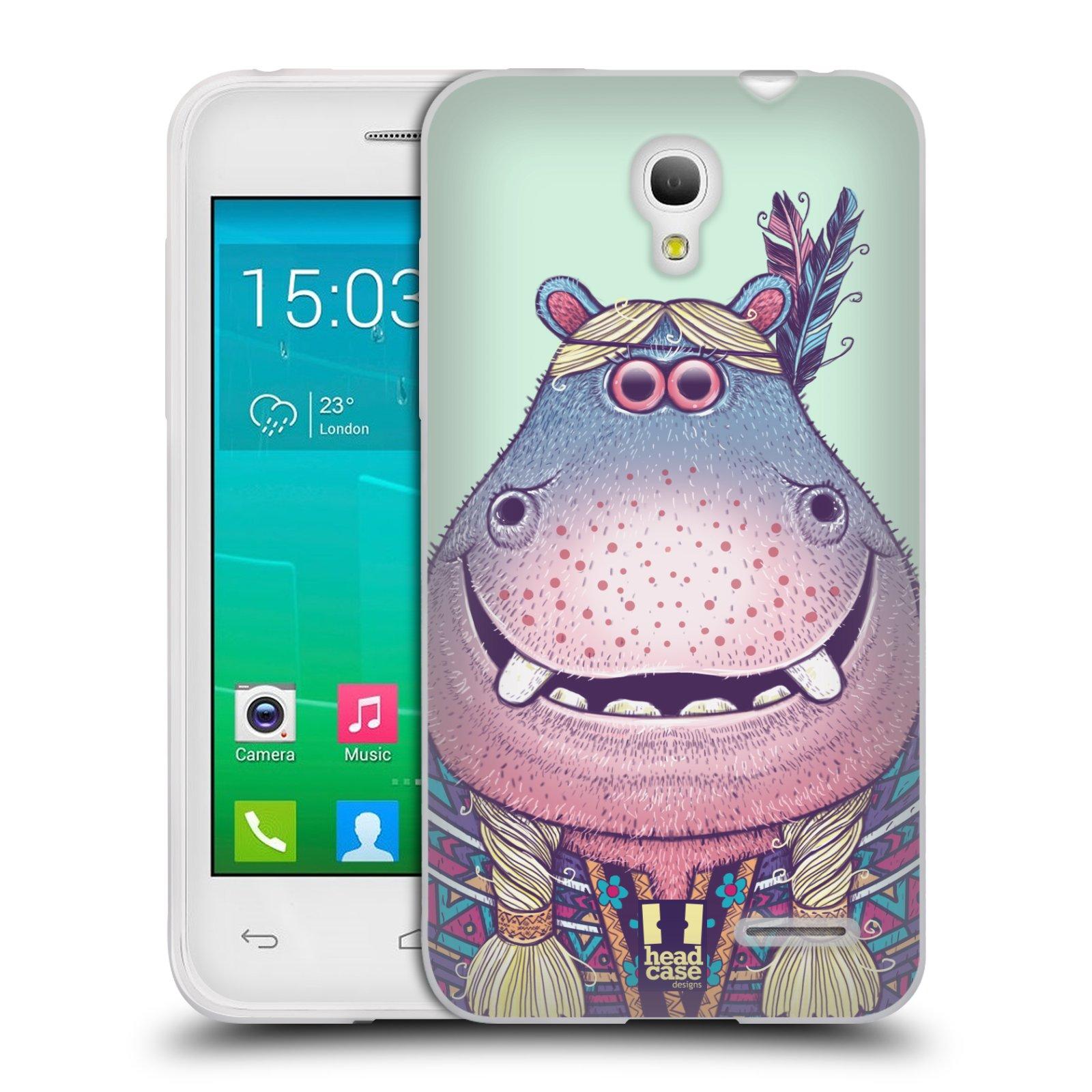 HEAD CASE silikonový obal na mobil Alcatel POP S3 OT-5050Y vzor Kreslená zvířátka hroch
