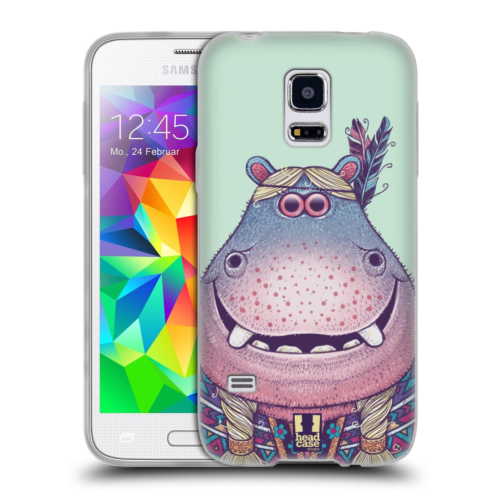 HEAD CASE silikonový obal na mobil Samsung Galaxy S5 MINI vzor Kreslená zvířátka hroch