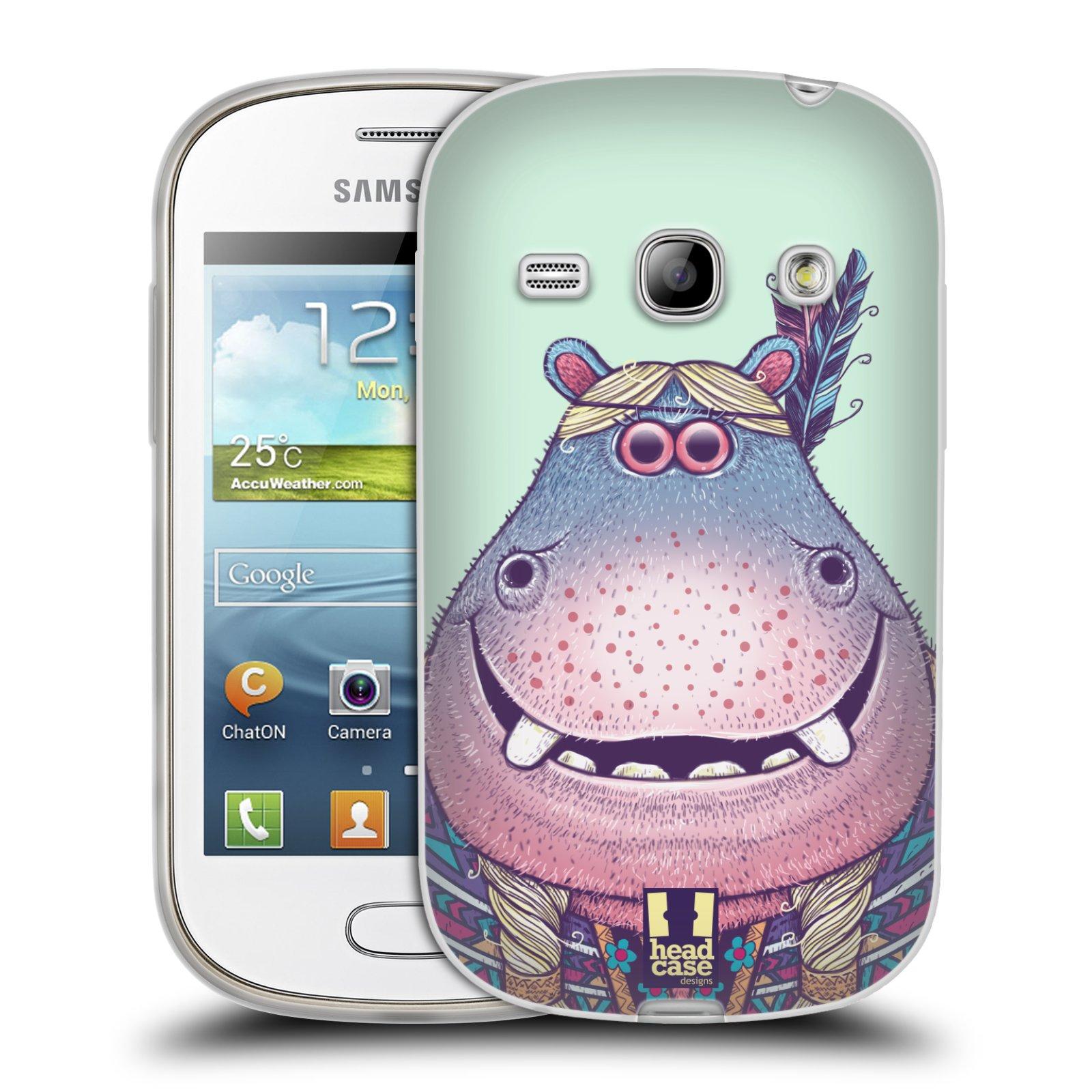 HEAD CASE silikonový obal na mobil Samsung Galaxy FAME vzor Kreslená zvířátka hroch