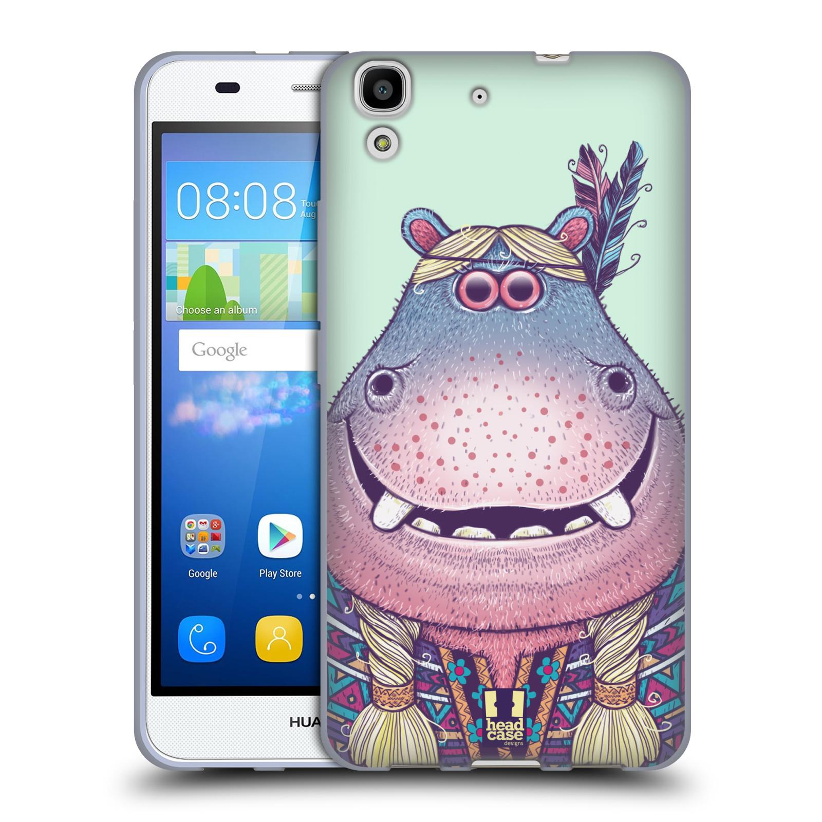 HEAD CASE silikonový obal na mobil HUAWEI Y6 vzor Kreslená zvířátka hroch