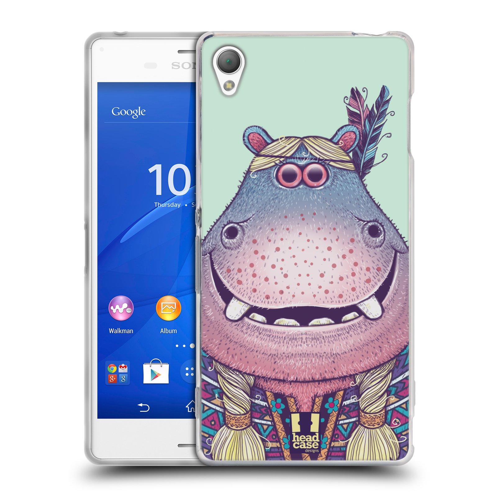HEAD CASE silikonový obal na mobil Sony Xperia Z3 vzor Kreslená zvířátka hroch
