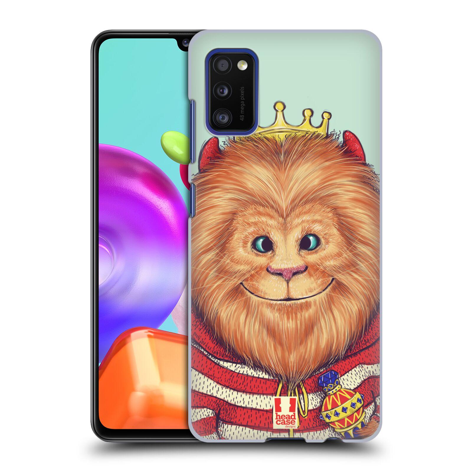 Zadní kryt na mobil Samsung Galaxy A41 vzor Kreslená zvířátka lev