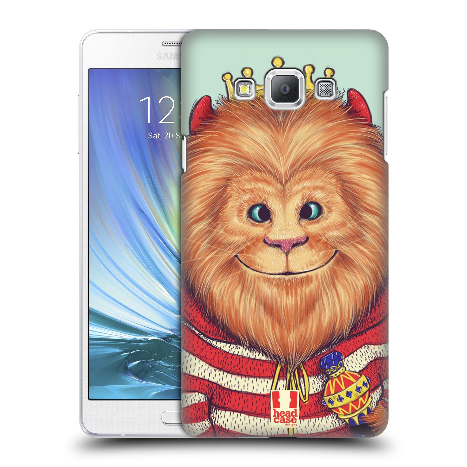HEAD CASE plastový obal na mobil SAMSUNG GALAXY A7 vzor Kreslená zvířátka lev
