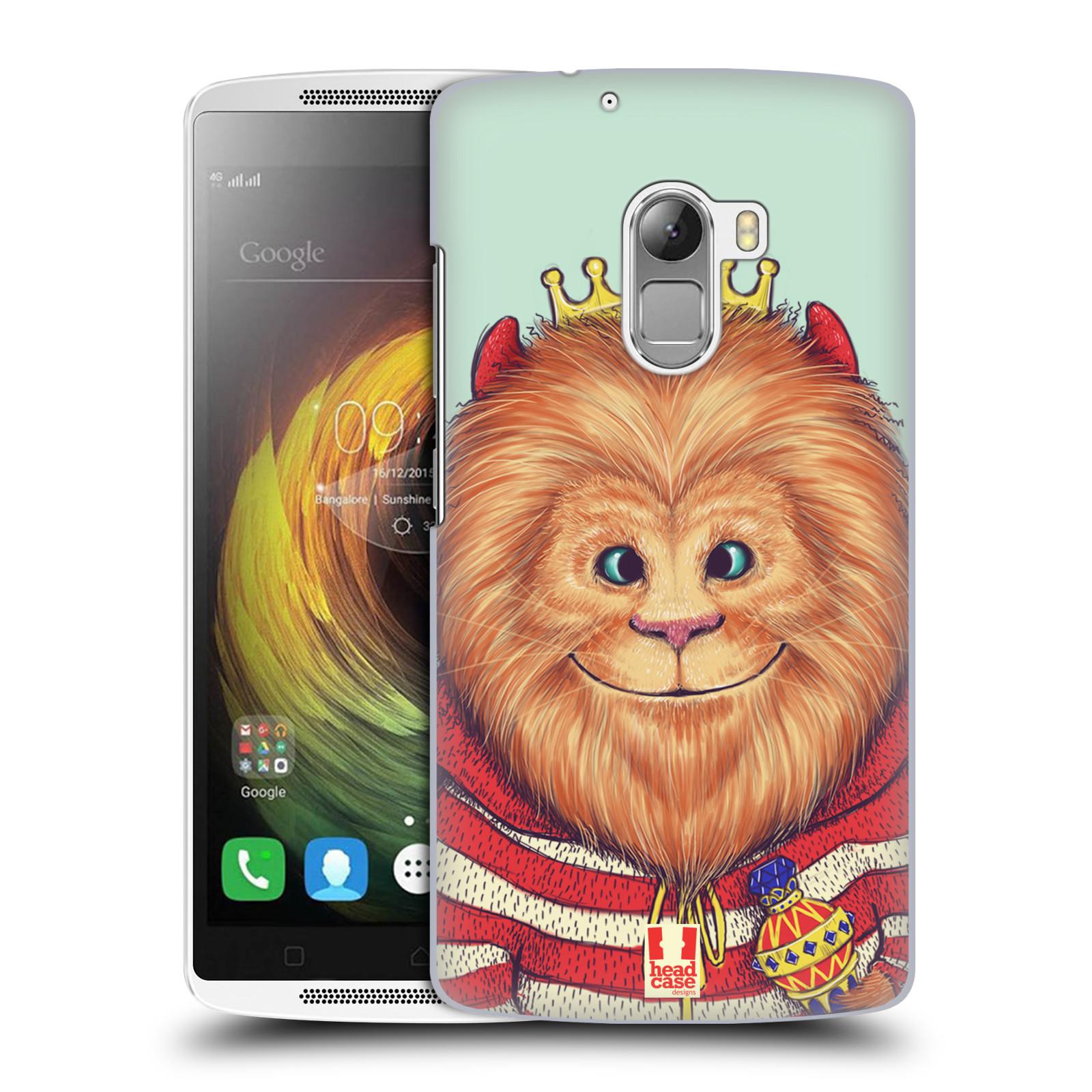 HEAD CASE pevný plastový obal na mobil LENOVO A7010 / A7010 DUAL / K4 Note / Vibe X3 lite vzor Kreslená zvířátka lev