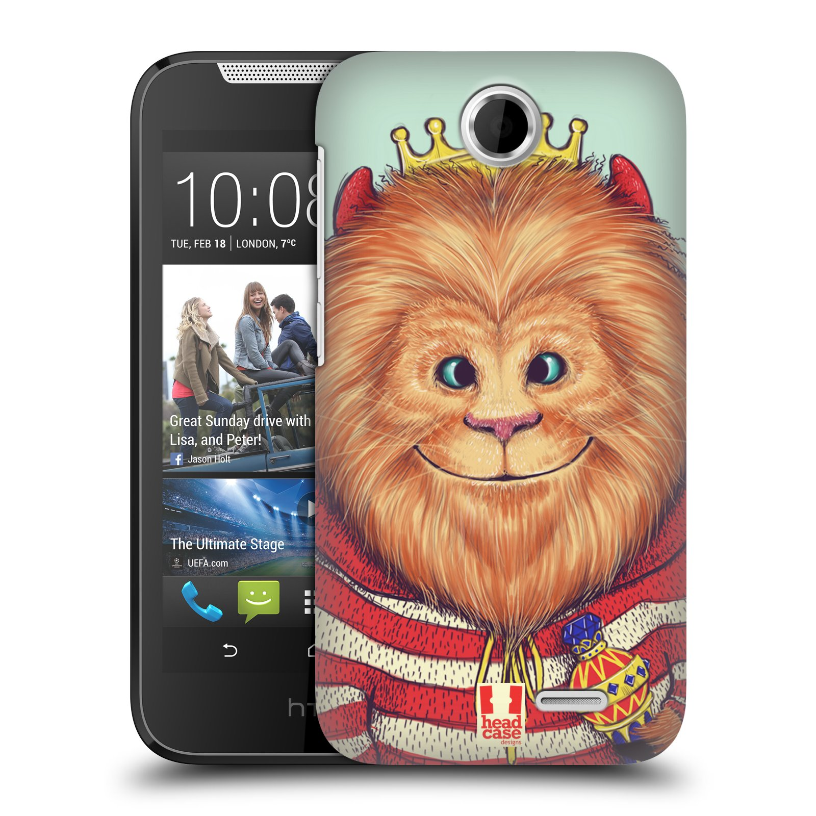 HEAD CASE plastový obal na mobil HTC Desire 310 vzor Kreslená zvířátka lev
