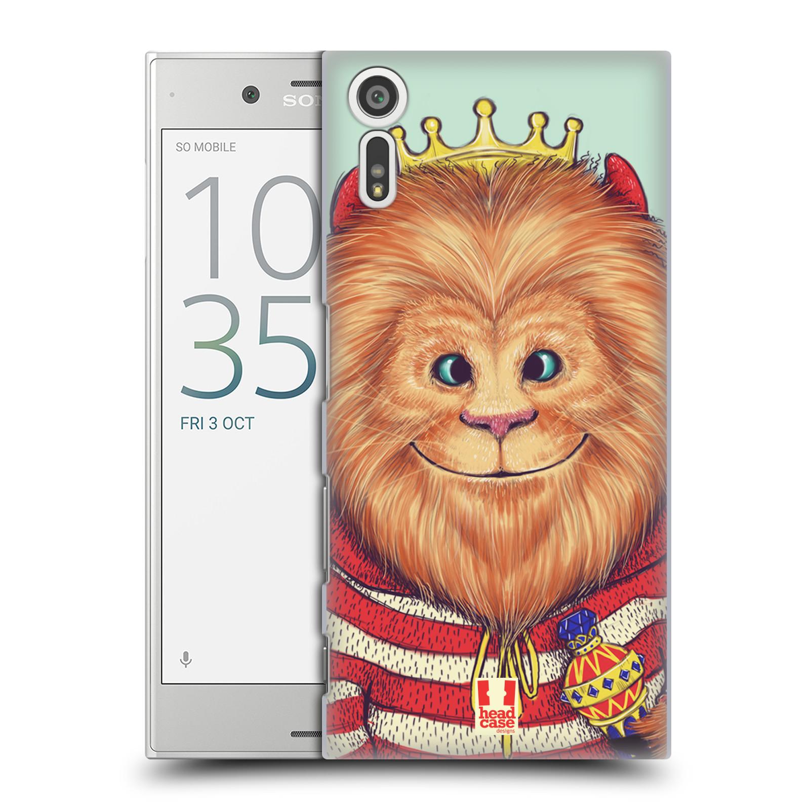 HEAD CASE plastový obal na mobil Sony Xperia XZ vzor Kreslená zvířátka lev