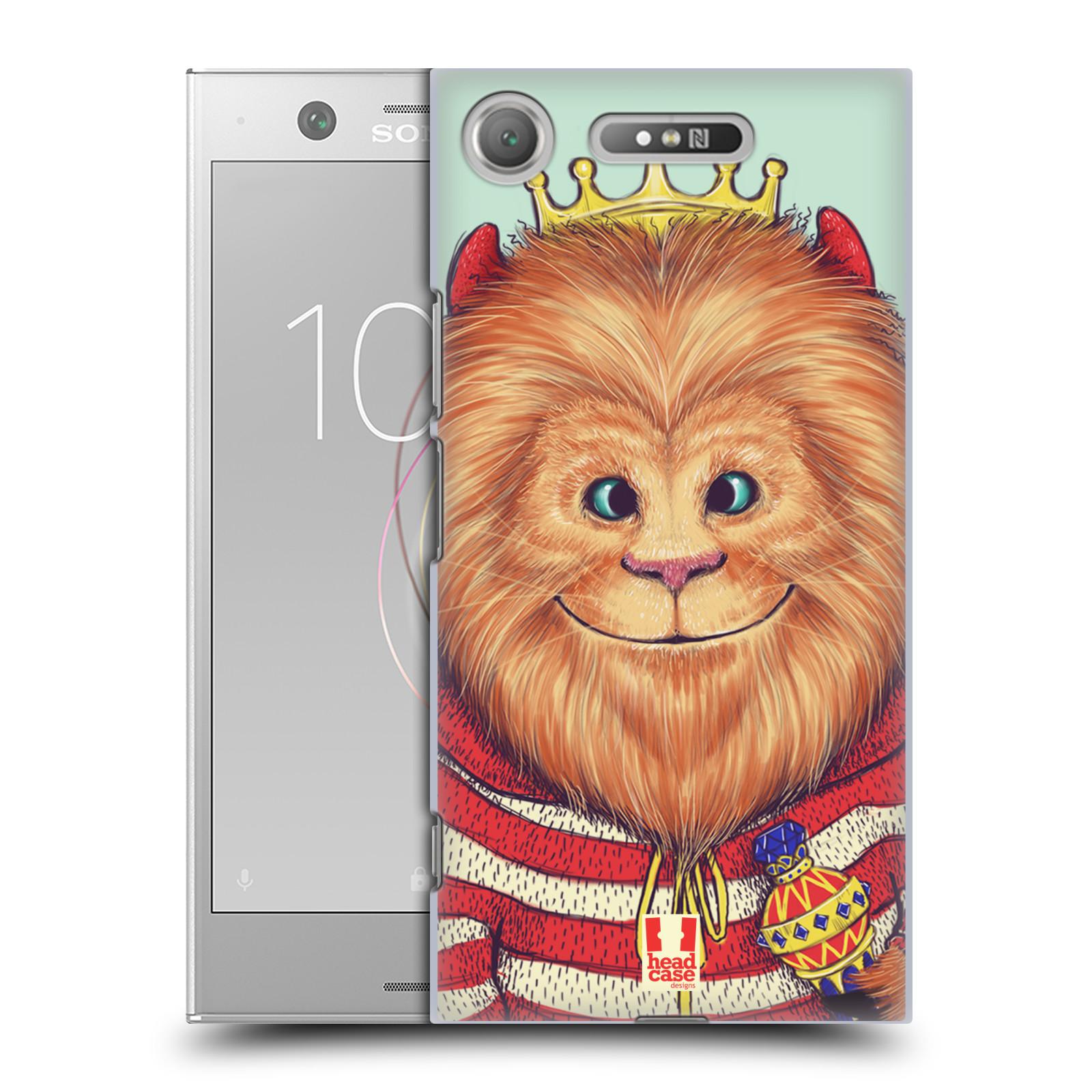 HEAD CASE plastový obal na mobil Sony Xperia XZ1 vzor Kreslená zvířátka lev
