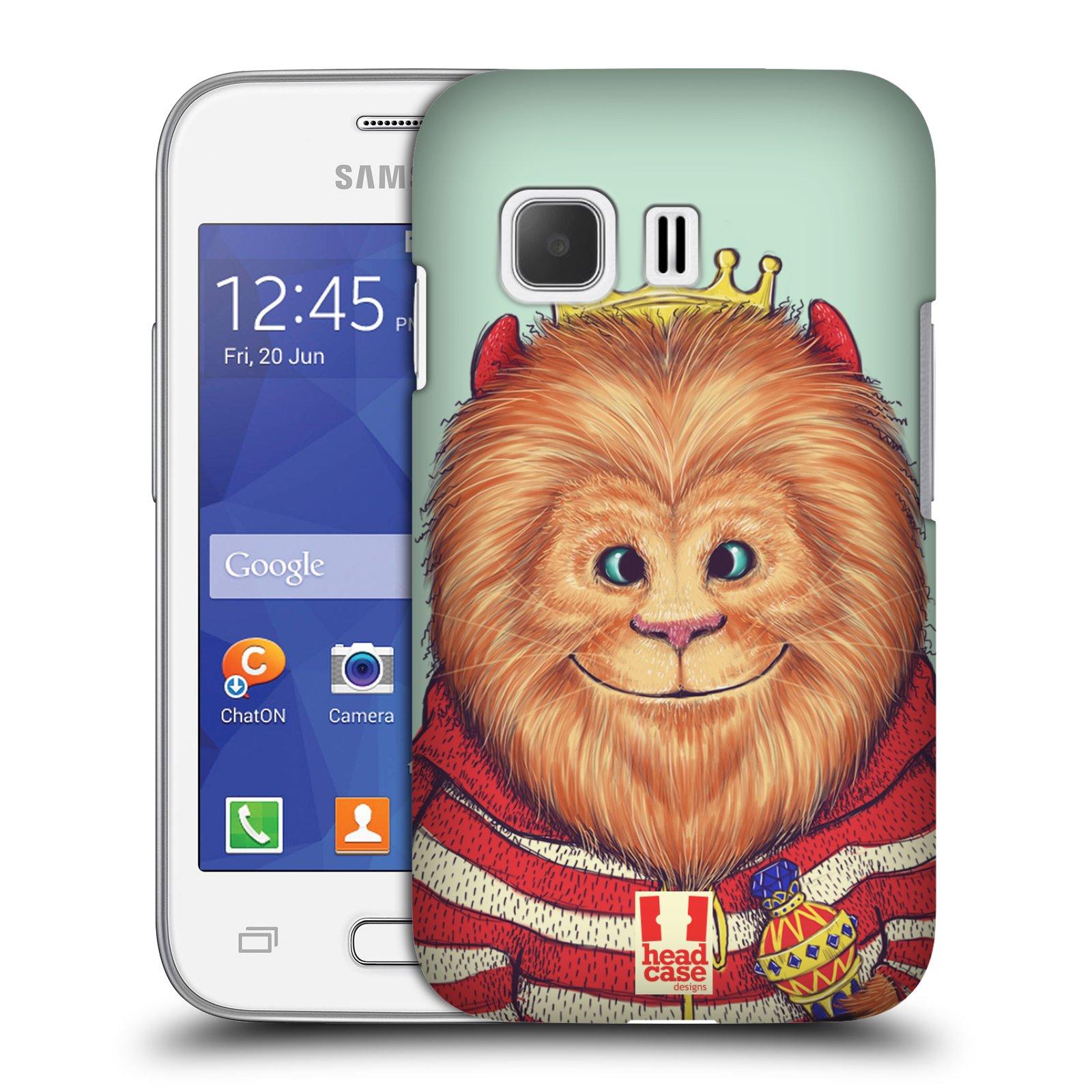 HEAD CASE plastový obal na mobil SAMSUNG Galaxy Young 2 (G130) vzor Kreslená zvířátka lev
