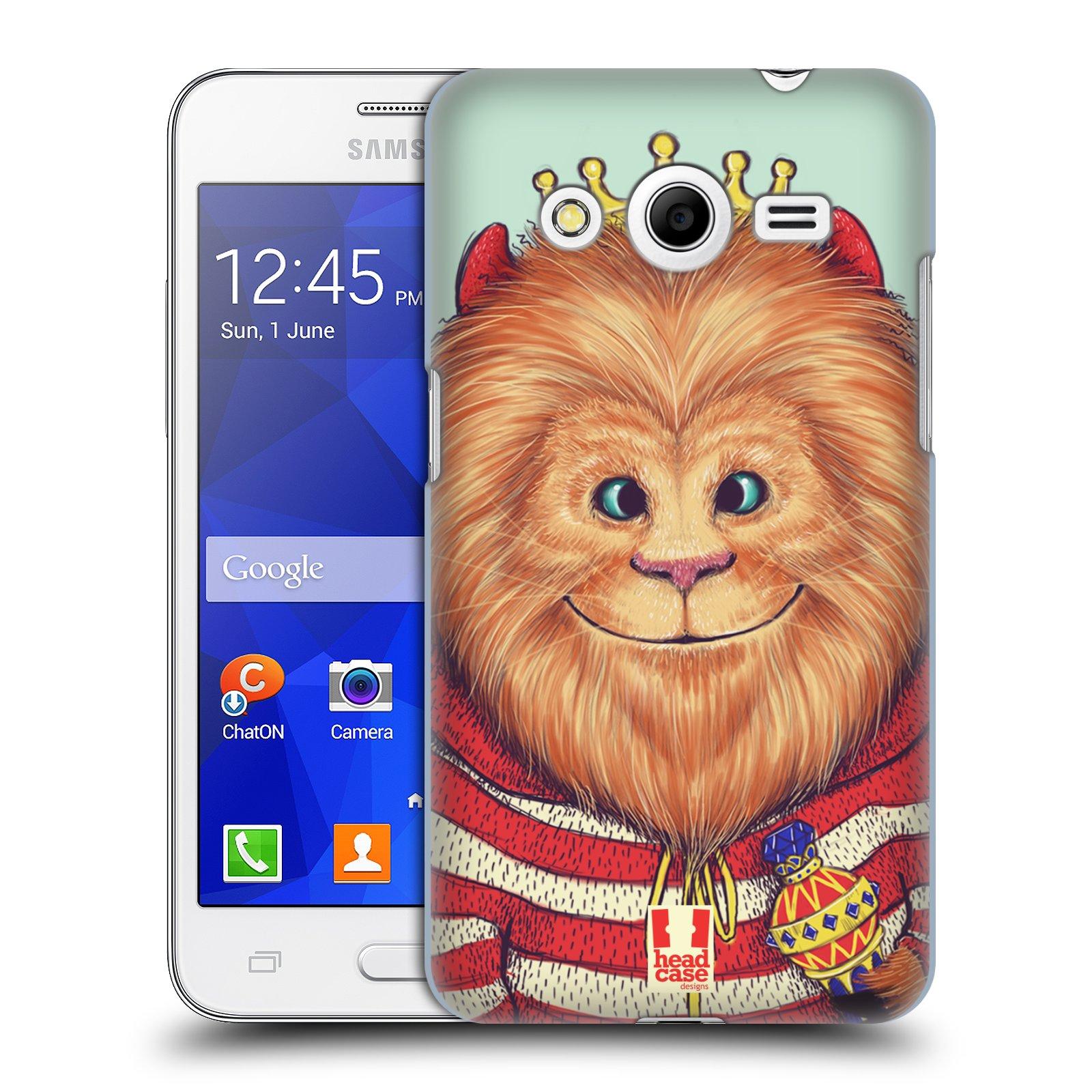 HEAD CASE plastový obal na mobil SAMSUNG GALAXY Core 2 (G355H) vzor Kreslená zvířátka lev