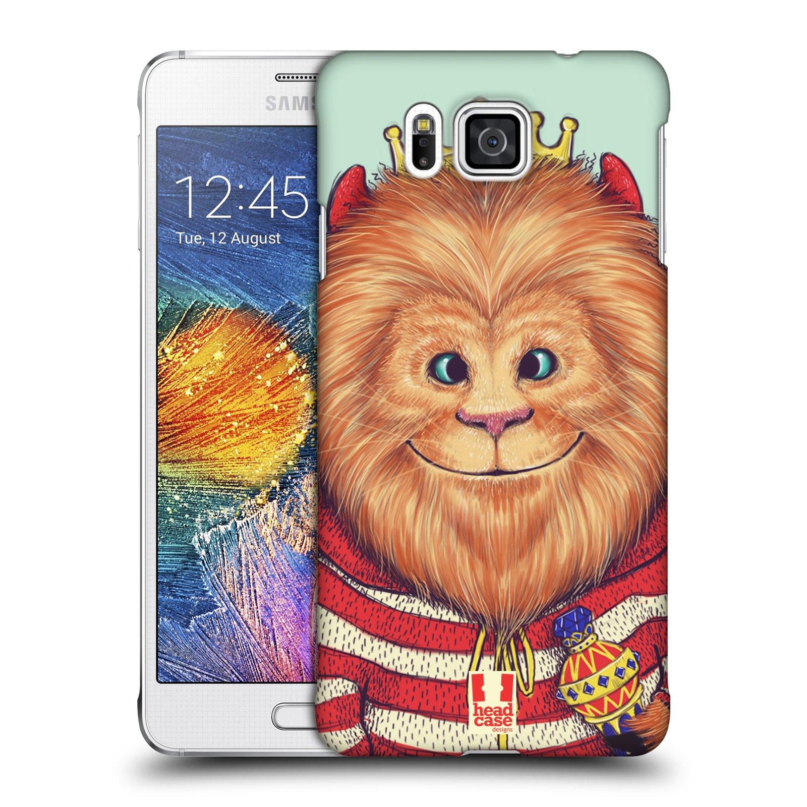 HEAD CASE plastový obal na mobil SAMSUNG Galaxy Alpha (G850) vzor Kreslená zvířátka lev