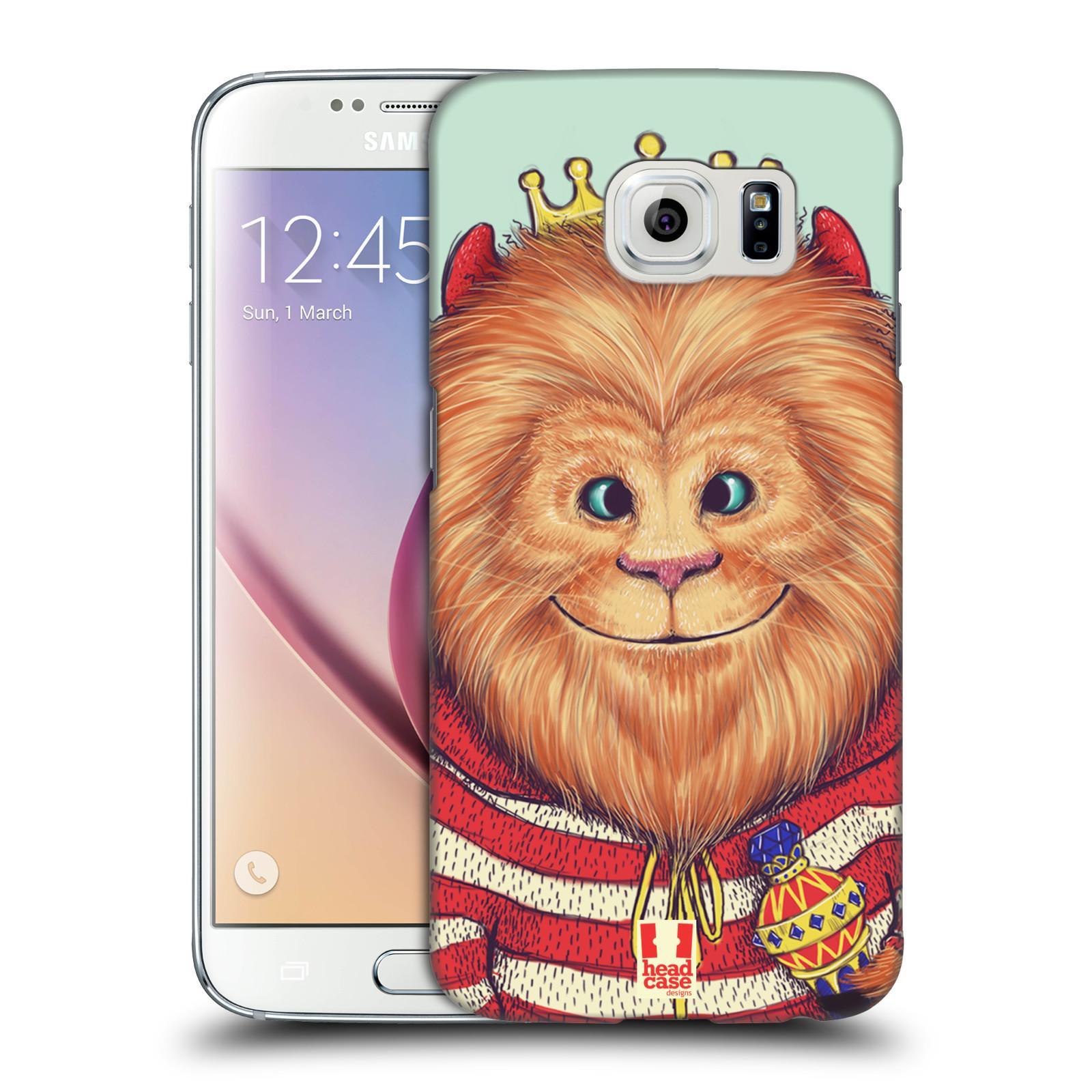 HEAD CASE plastový obal na mobil SAMSUNG Galaxy S6 (G9200, G920F) vzor Kreslená zvířátka lev
