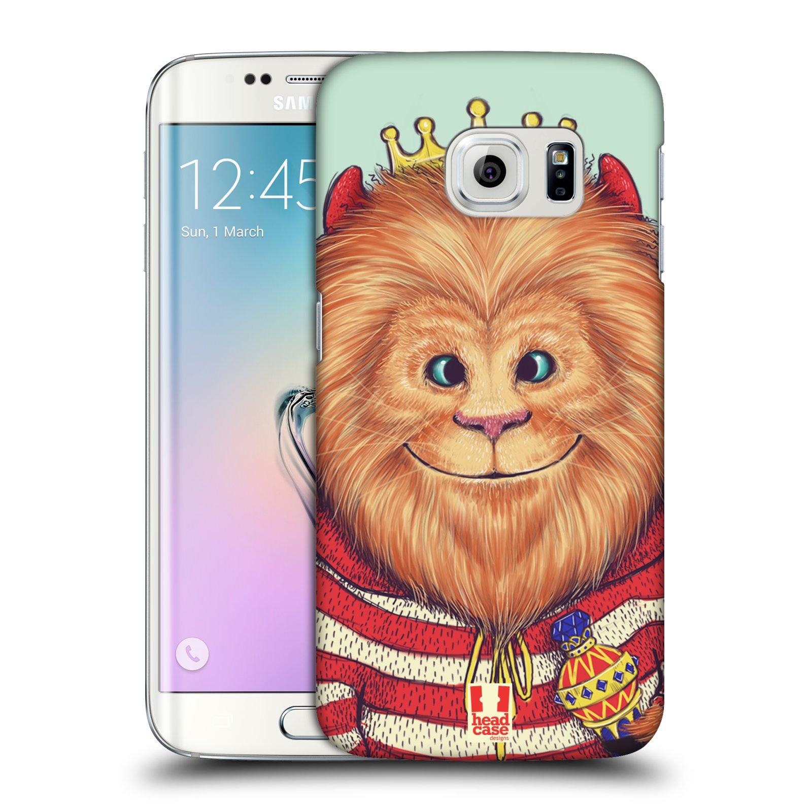 HEAD CASE plastový obal na mobil SAMSUNG Galaxy S6 EDGE (G9250, G925, G925F) vzor Kreslená zvířátka lev