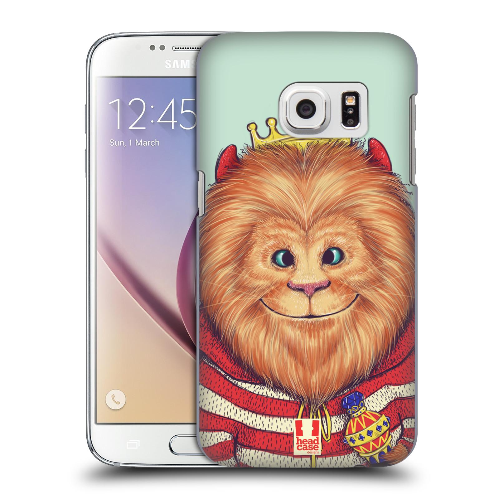 HEAD CASE plastový obal na mobil SAMSUNG GALAXY S7 vzor Kreslená zvířátka lev