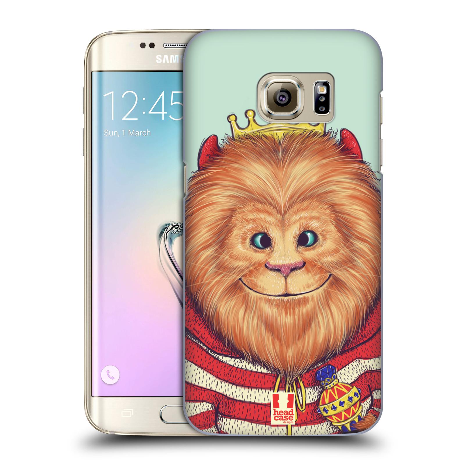 HEAD CASE plastový obal na mobil SAMSUNG GALAXY S7 EDGE vzor Kreslená zvířátka lev