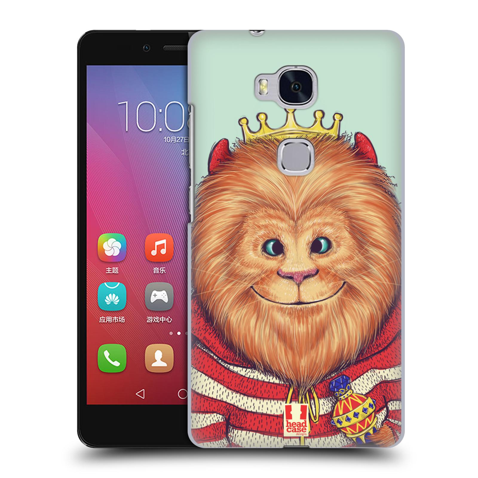 HEAD CASE pevný plastový obal na mobil HUAWEI HONOR 5X vzor Kreslená zvířátka lev