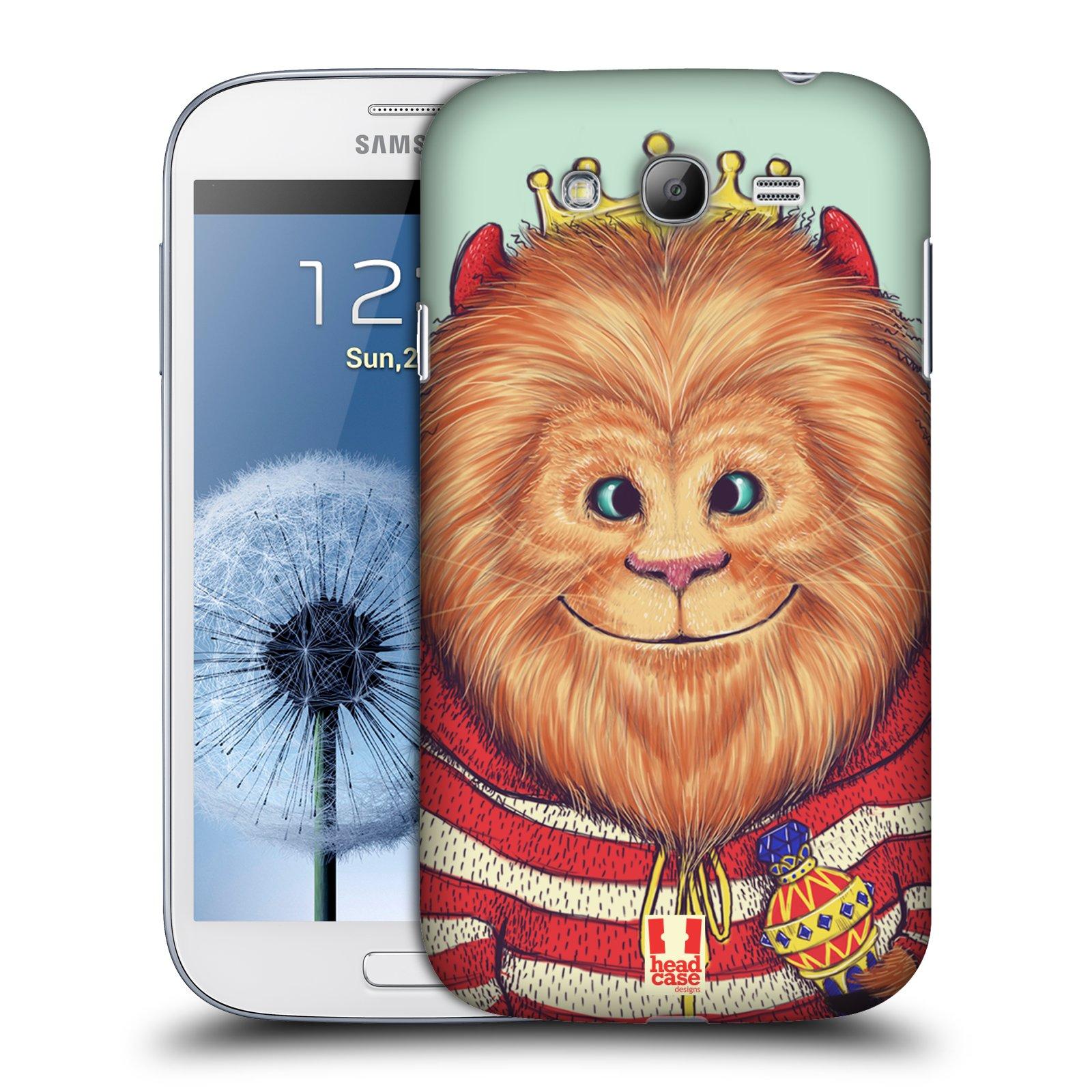 HEAD CASE plastový obal na mobil SAMSUNG GALAXY Grand i9080 vzor Kreslená zvířátka lev