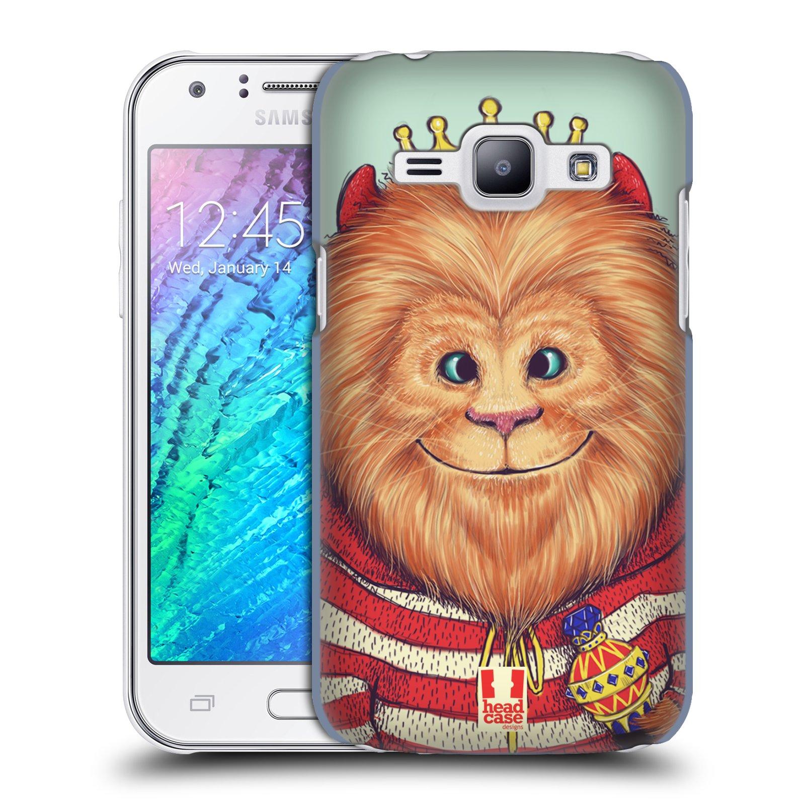 HEAD CASE plastový obal na mobil SAMSUNG Galaxy J1, J100 vzor Kreslená zvířátka lev