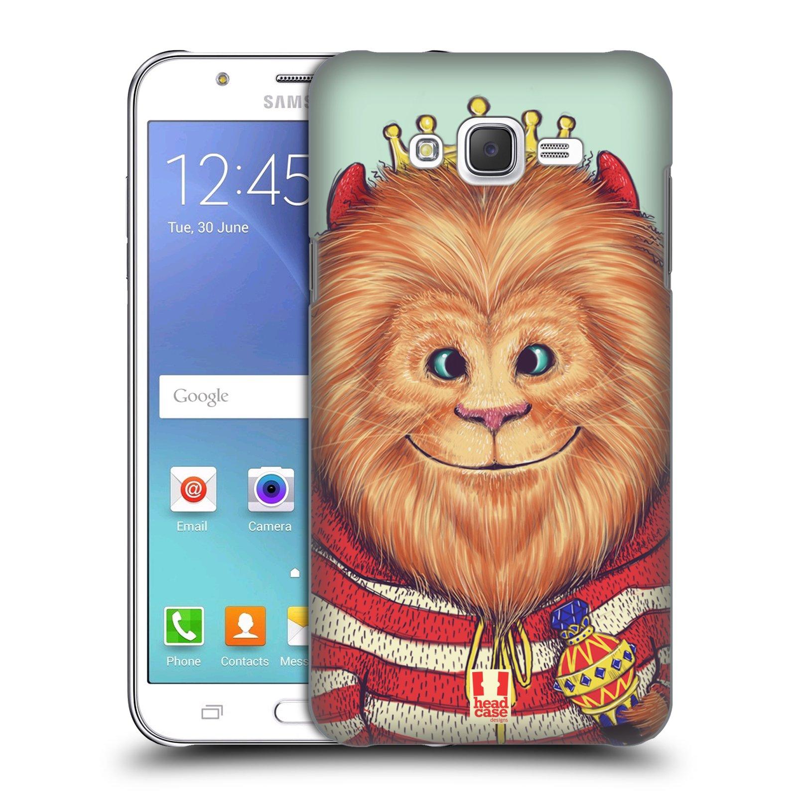 HEAD CASE plastový obal na mobil SAMSUNG Galaxy J7, J700 vzor Kreslená zvířátka lev