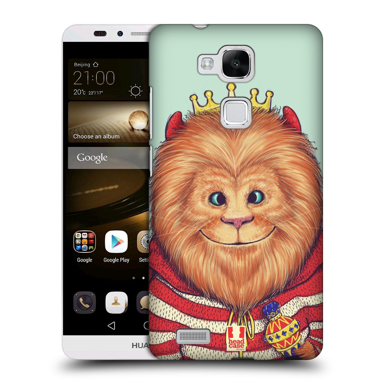 HEAD CASE plastový obal na mobil Huawei Mate 7 vzor Kreslená zvířátka lev