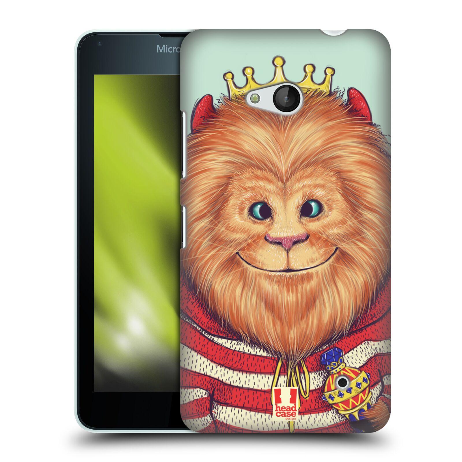 HEAD CASE plastový obal na mobil Nokia Lumia 640 vzor Kreslená zvířátka lev