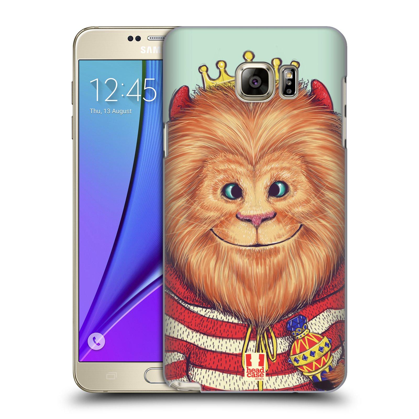 HEAD CASE plastový obal na mobil SAMSUNG Galaxy Note 5 (N920) vzor Kreslená zvířátka lev
