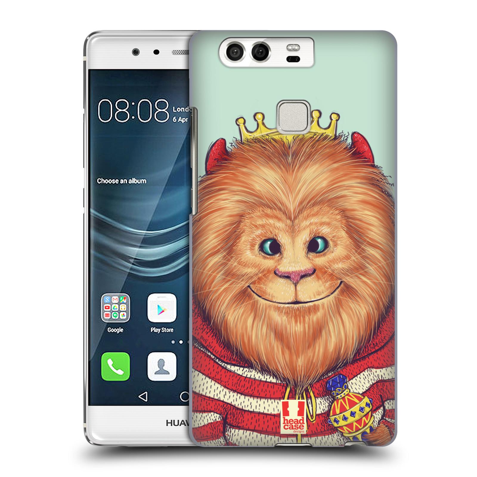 HEAD CASE plastový obal na mobil Huawei P9 / P9 DUAL SIM vzor Kreslená zvířátka lev
