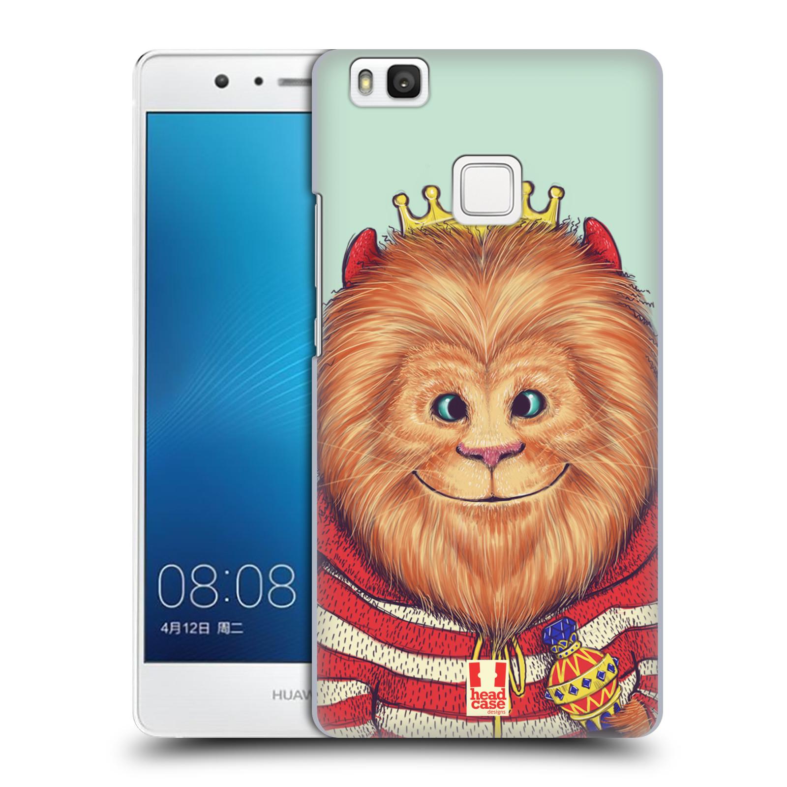 HEAD CASE plastový obal na mobil Huawei P9 LITE / P9 LITE DUAL SIM vzor Kreslená zvířátka lev