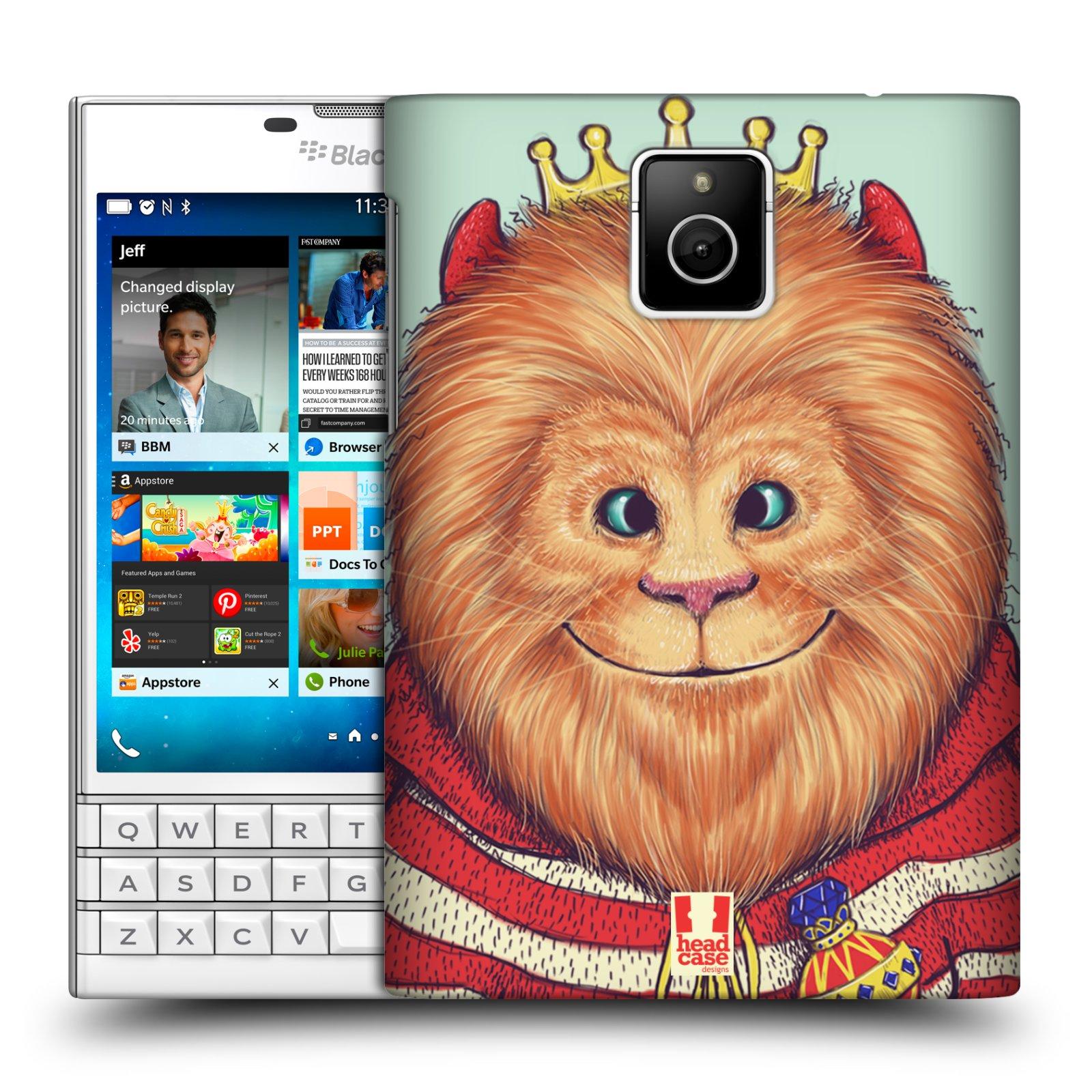 HEAD CASE plastový obal na mobil BlackBerry Passport vzor Kreslená zvířátka lev