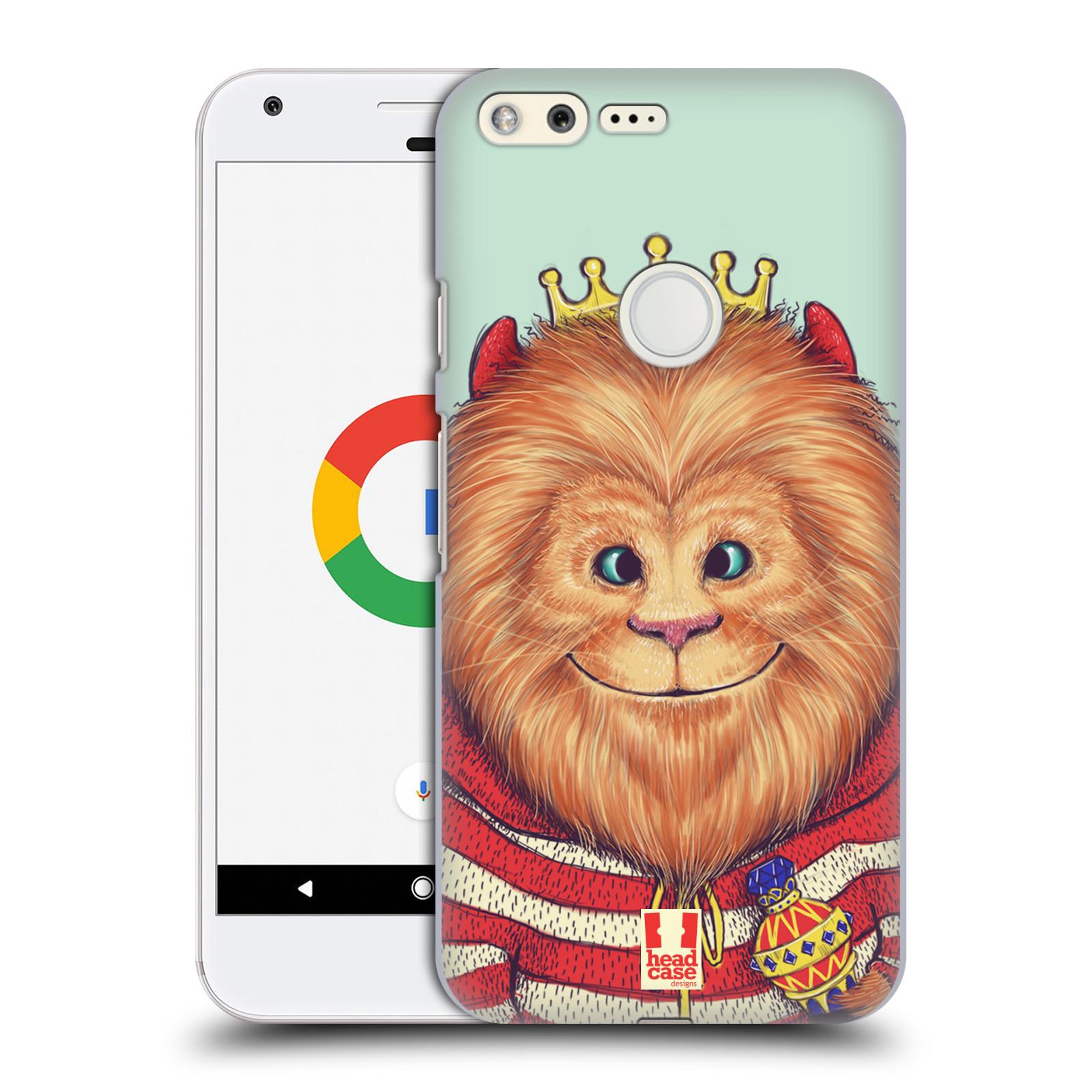 HEAD CASE plastový obal na mobil GOOGLE Pixel vzor Kreslená zvířátka lev