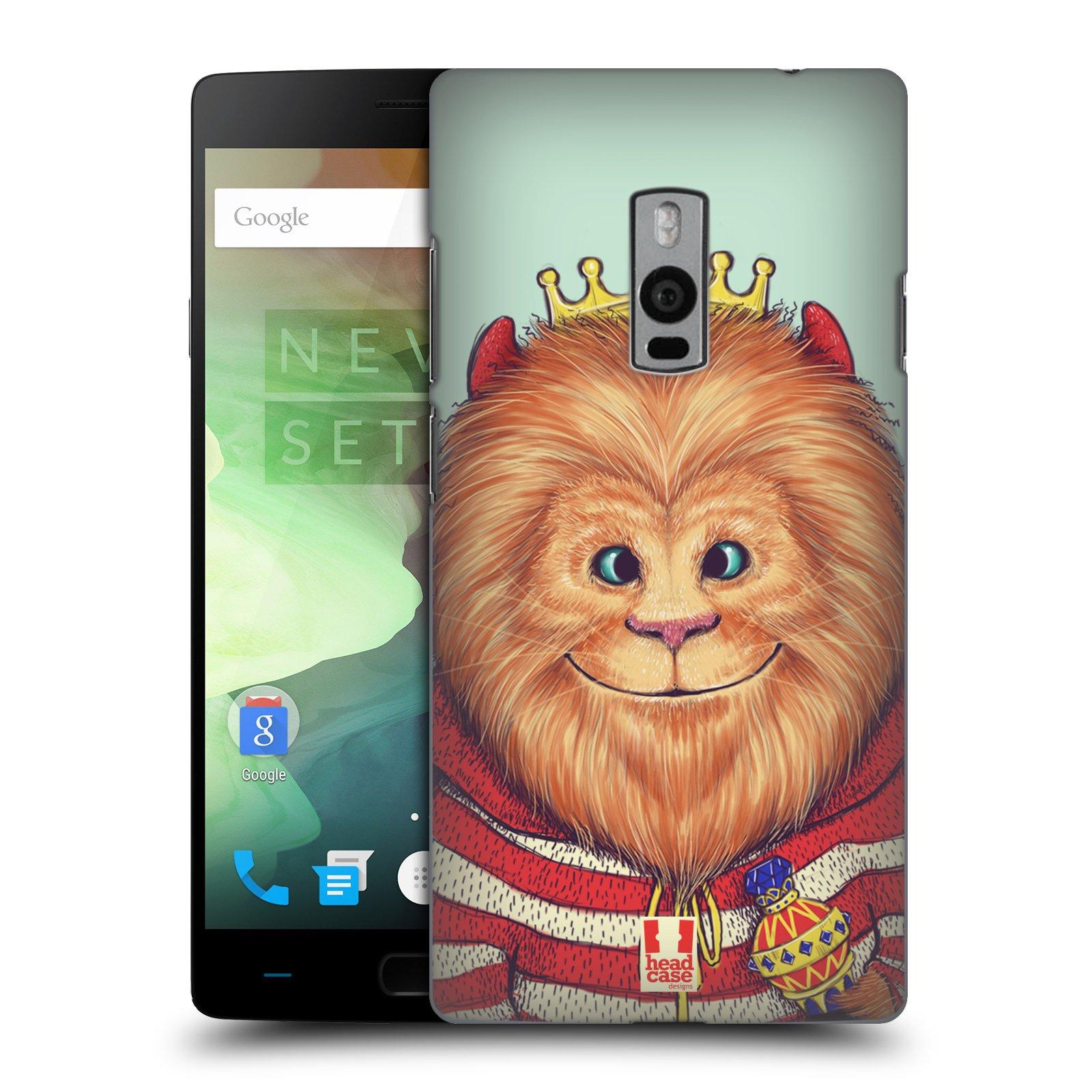 HEAD CASE pevný plastový obal na mobil OnePlus 2  ( TWO ) vzor Kreslená zvířátka lev
