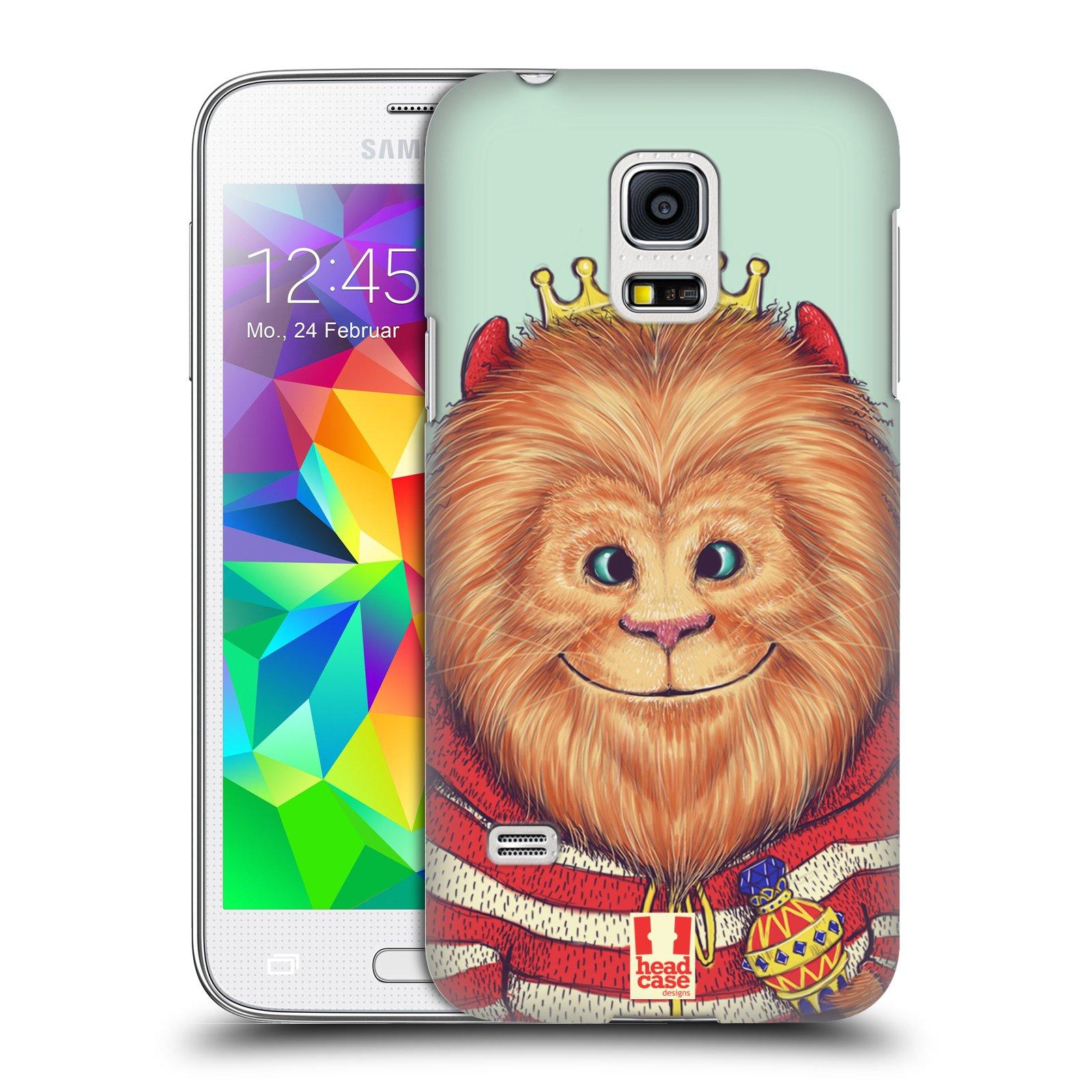 HEAD CASE plastový obal na mobil SAMSUNG Galaxy S5 MINI / S5 MINI DUOS vzor Kreslená zvířátka lev