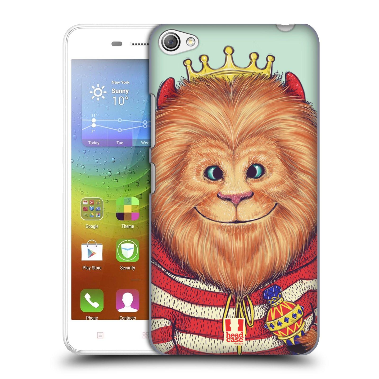 HEAD CASE pevný plastový obal na mobil LENOVO S60 / LENOVO S60 DUAL SIM vzor Kreslená zvířátka lev