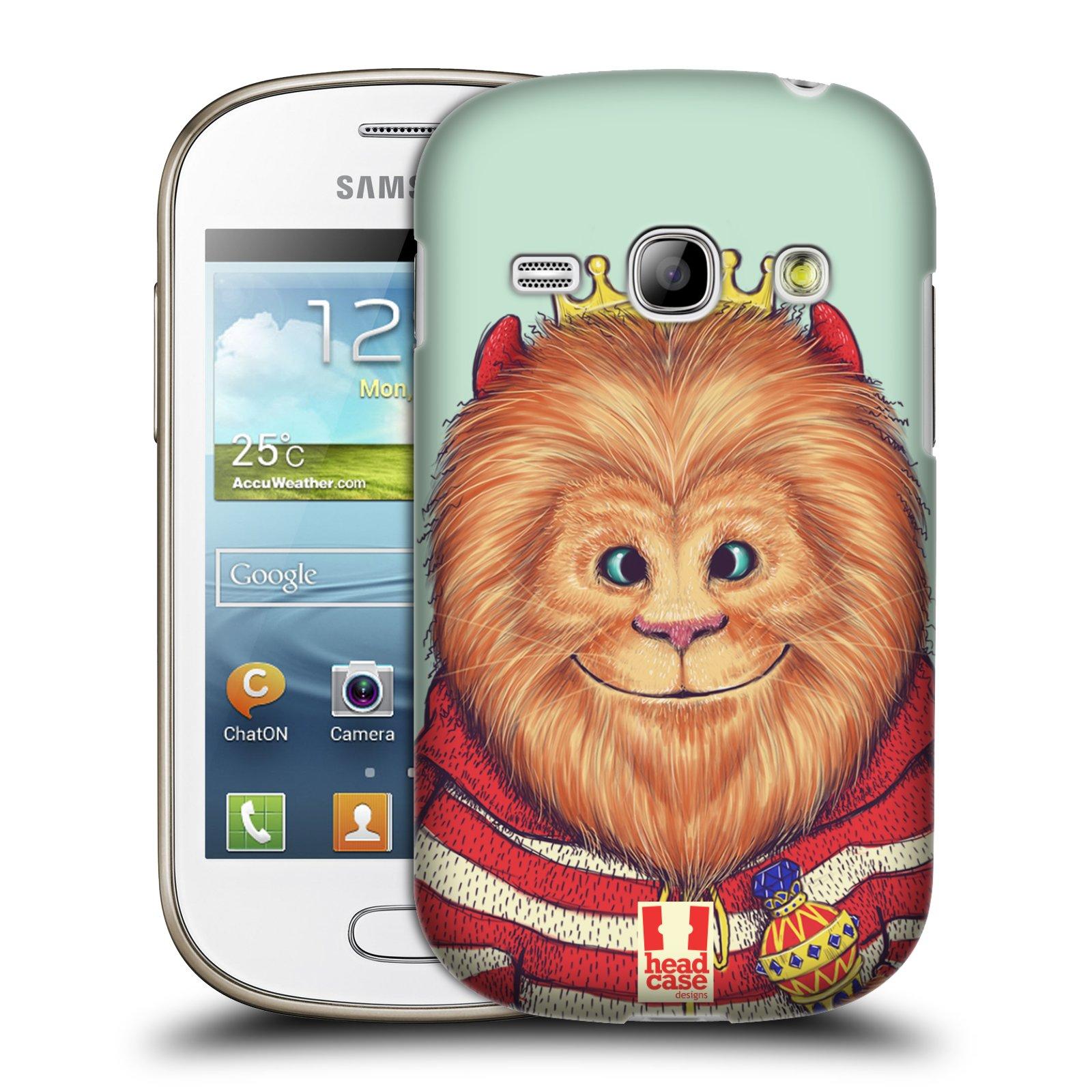 HEAD CASE plastový obal na mobil SAMSUNG GALAXY FAME (S6810) vzor Kreslená zvířátka lev