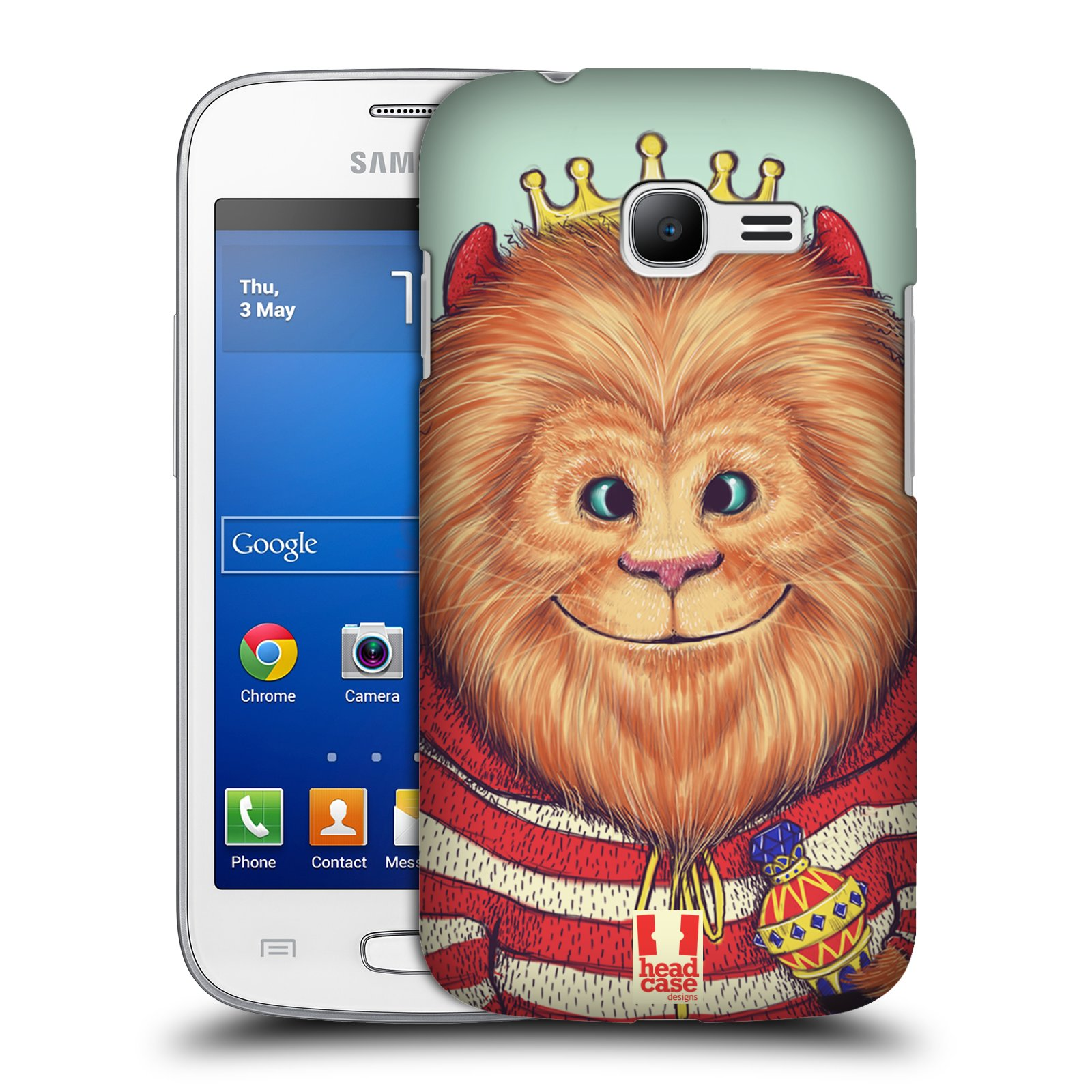 HEAD CASE plastový obal na mobil SAMSUNG GALAXY Star Pro S7260/S7262 DUOS vzor Kreslená zvířátka lev