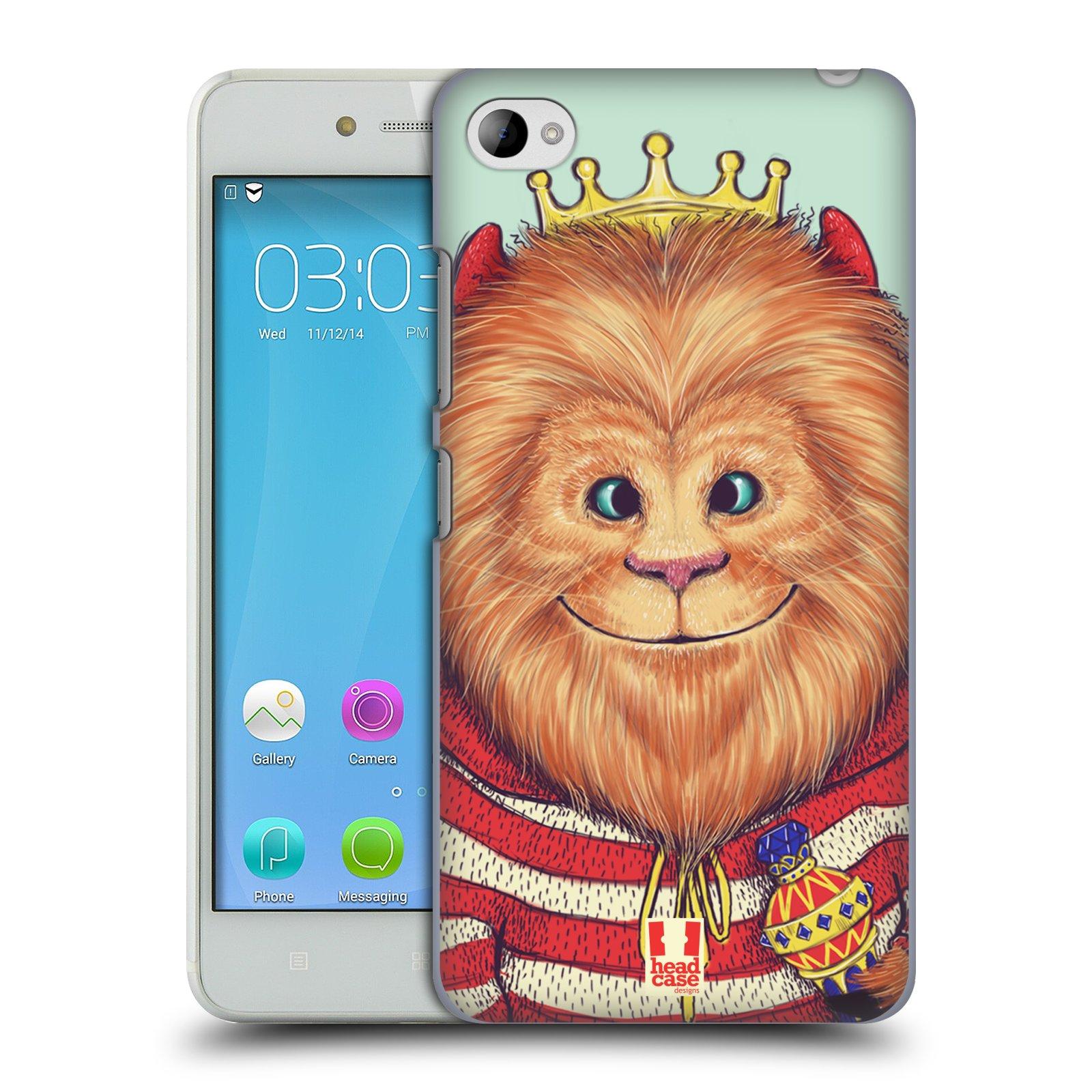 HEAD CASE pevný plastový obal na mobil LENOVO S90 vzor Kreslená zvířátka lev