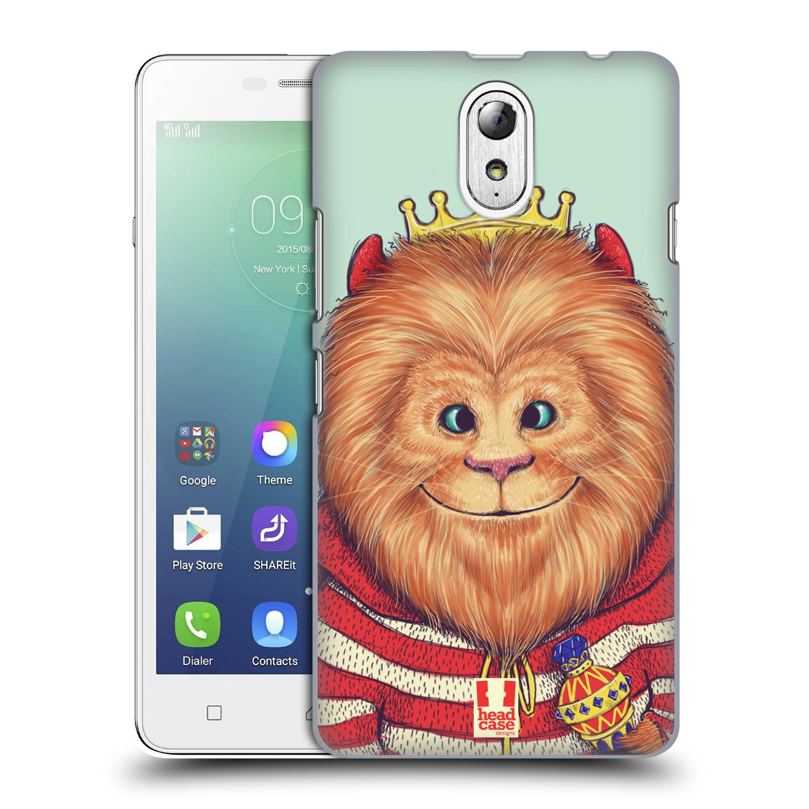 HEAD CASE pevný plastový obal na mobil LENOVO VIBE P1m / LENOVO VIBE p1m DUAL SIM vzor Kreslená zvířátka lev