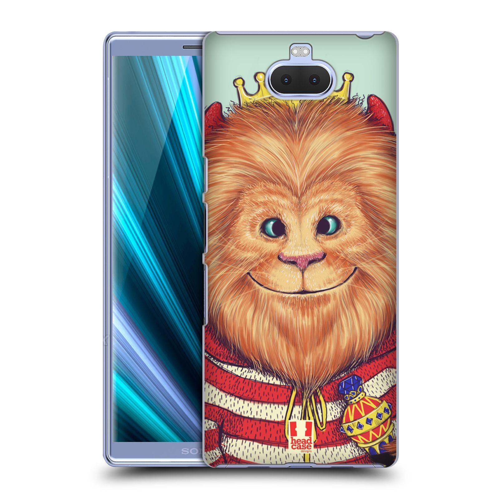 Pouzdro na mobil Sony Xperia 10 - Head Case - vzor Kreslená zvířátka lev